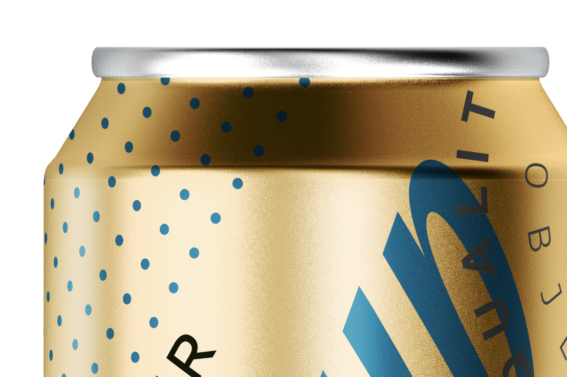 330ml Gold Matte Aluminum Can Mockup example image 4