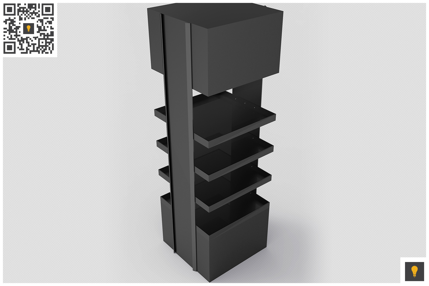 Promotional Store Shelf Stand 3D Render example image 5