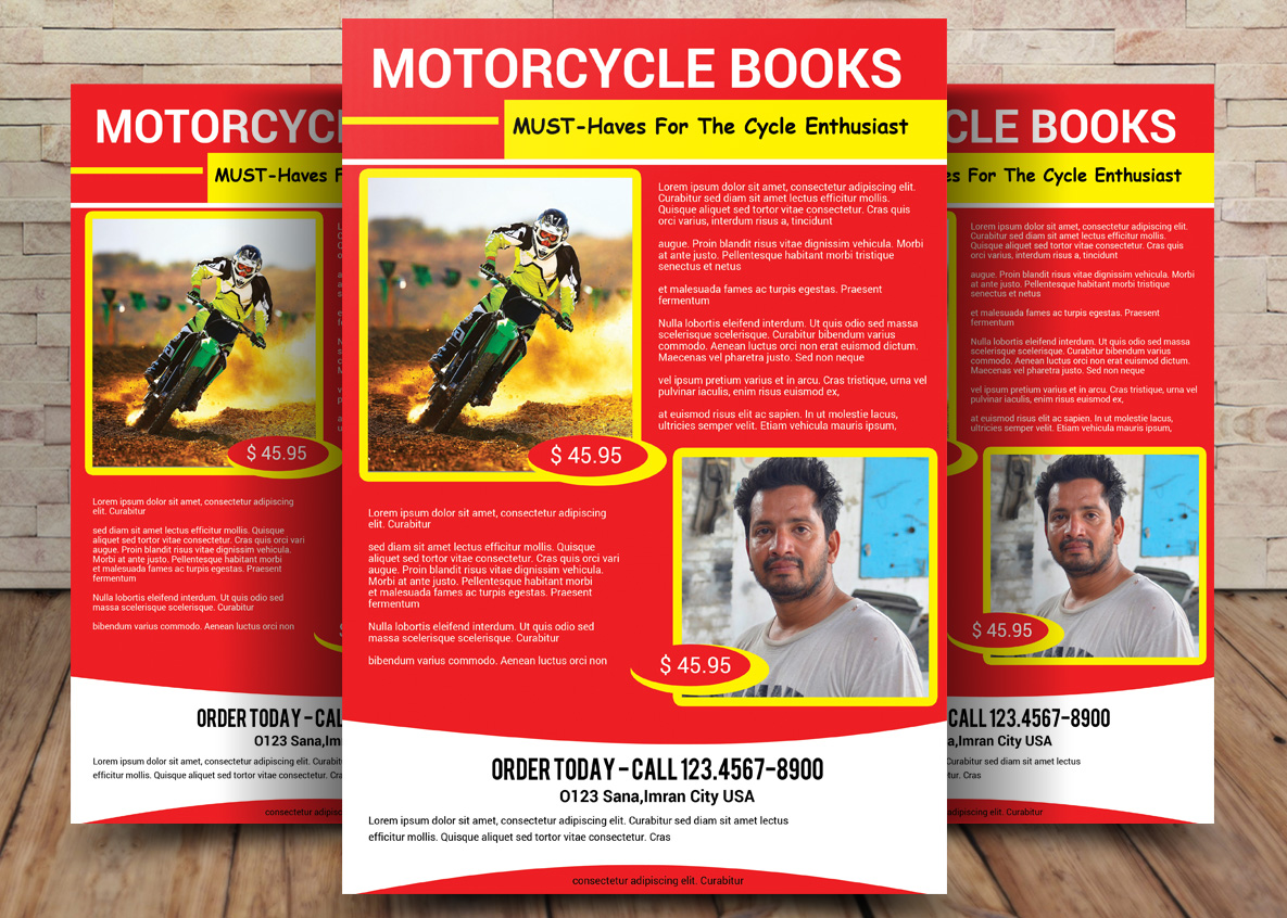MOTORCYCLE BOOKS FLYER example image 1