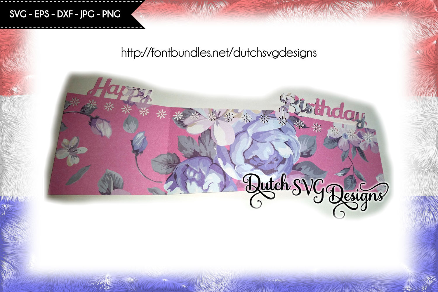 Card cutting file Happy Birthday example image 2