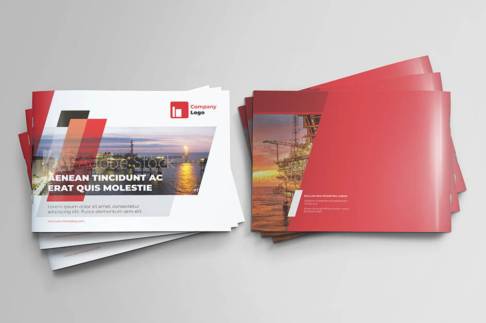 Offshore Oil and Gas Booklet Design Template example image 2