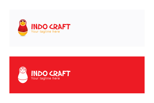 Indo Craft - Illustrative Stock Logo Template for Handicraft example image 2
