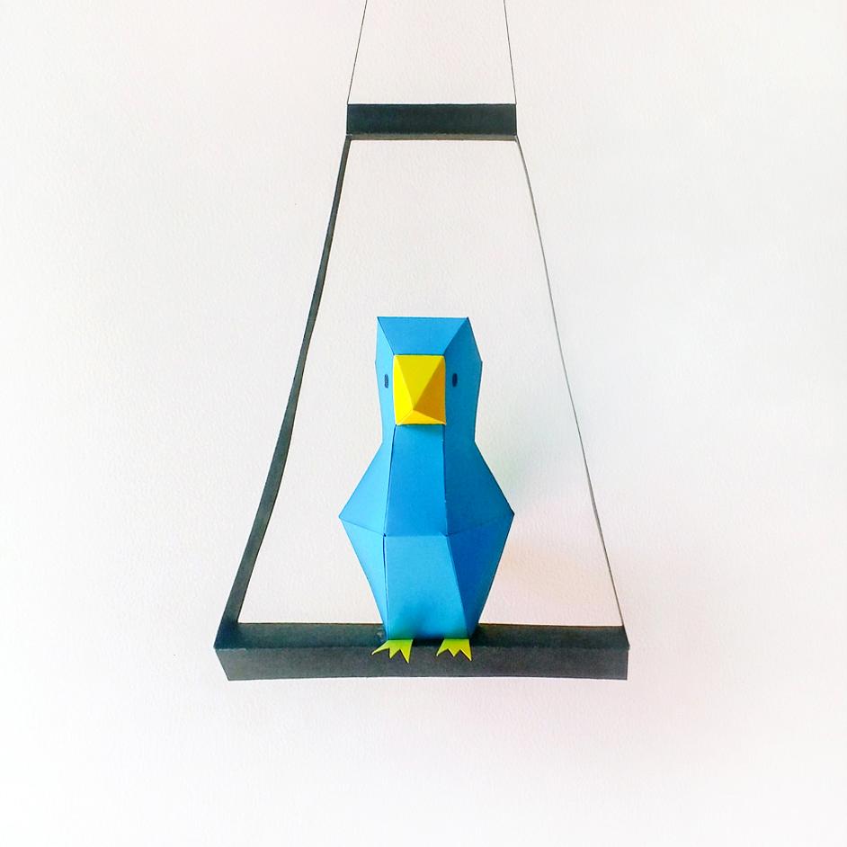 DIY Paper Bird - 3d papercraft example image 2