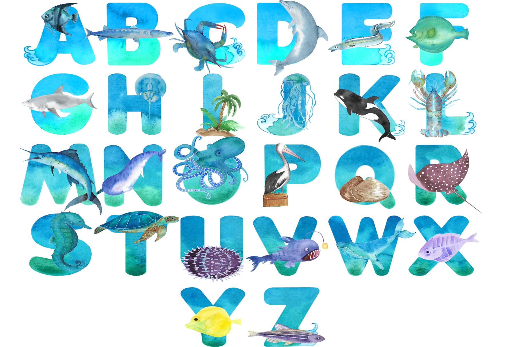 Sea Alphabet example image 2