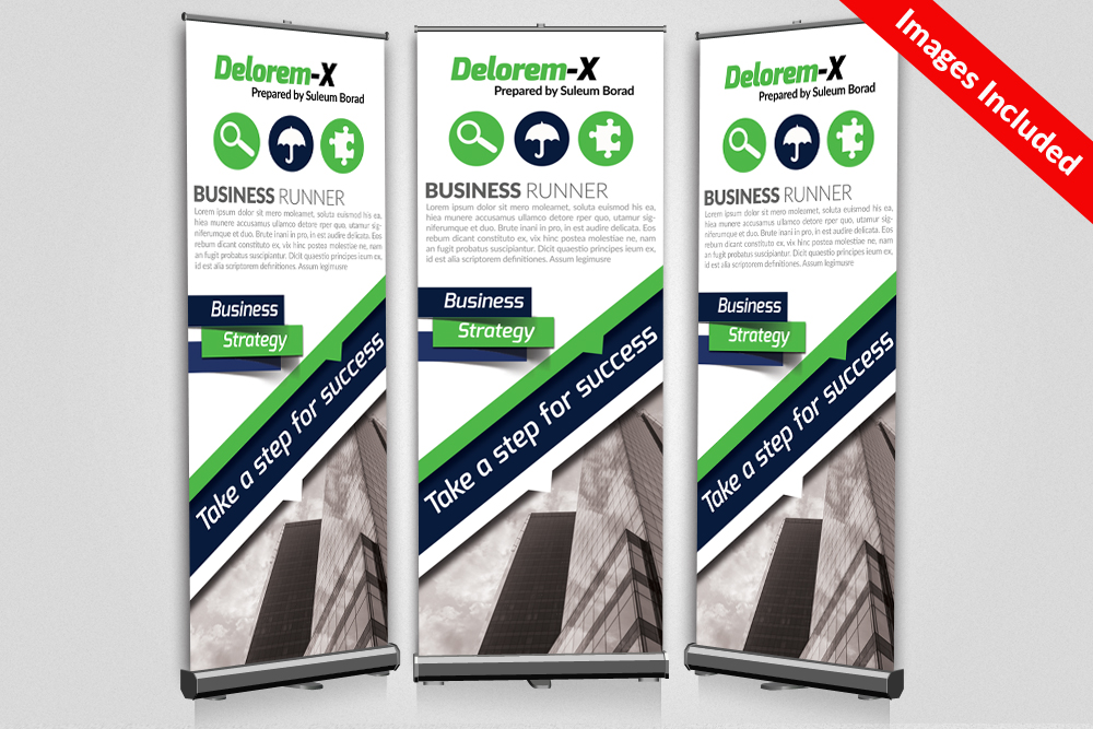 Business & Corporate Roll Up Banner example image 1