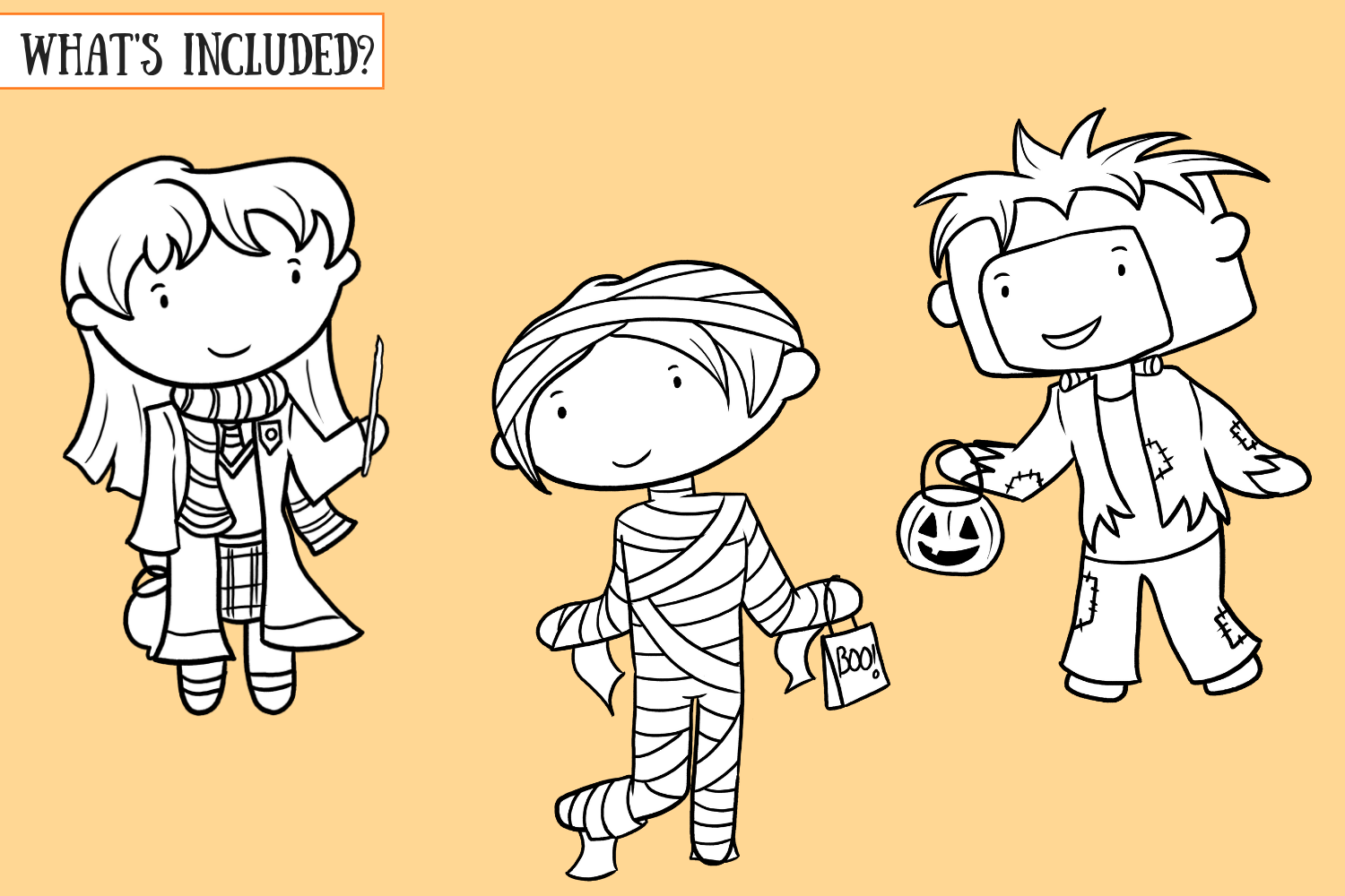 Trick or Treat Digital Stamps example image 2