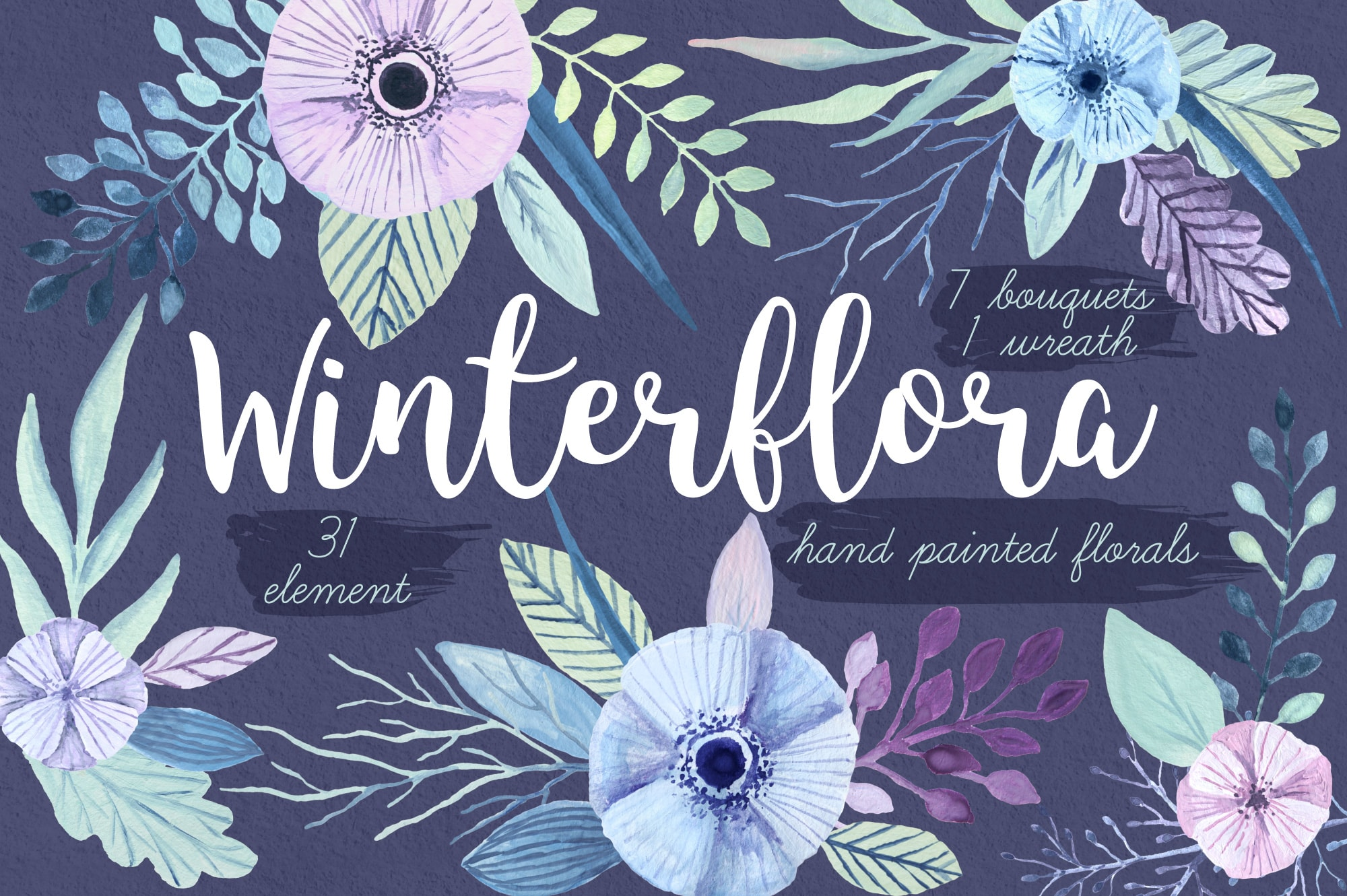 Winterflora floral set example image 1