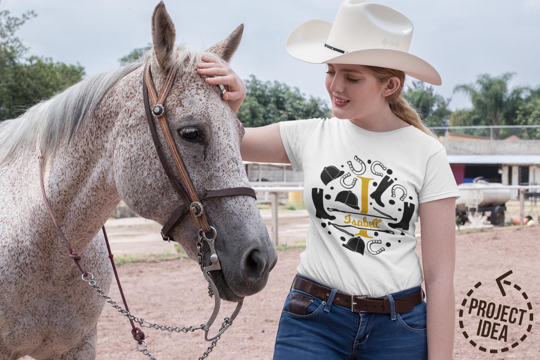Split letters A-Z horse riding, alphabet, cut/sublimation example image 2