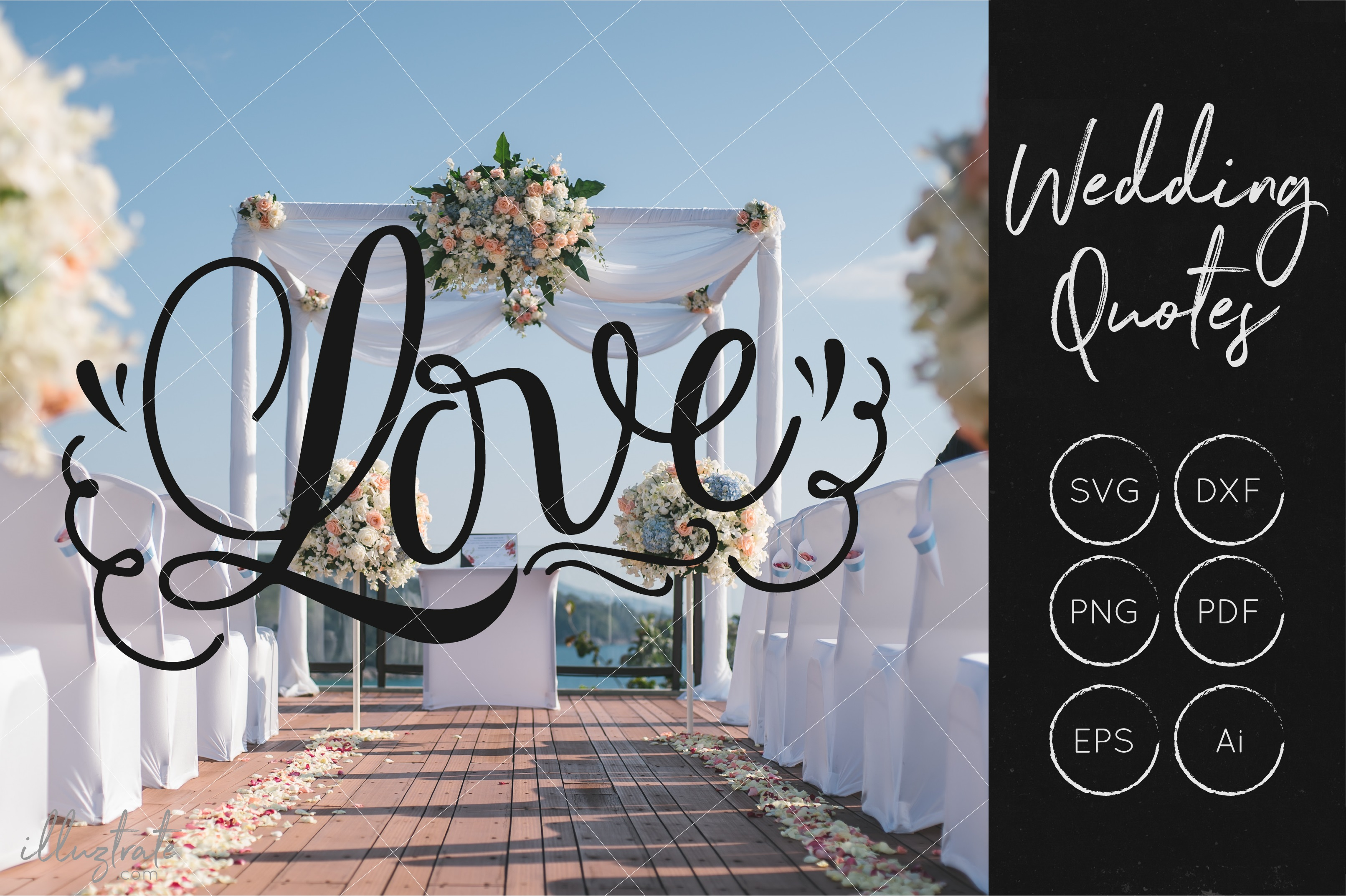 Wedding SVG Cut Files Bundle - Wedding Quotes - Wedding SVG example image 2