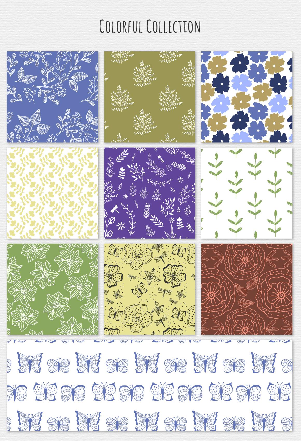 30 Botanic Patterns example image 3
