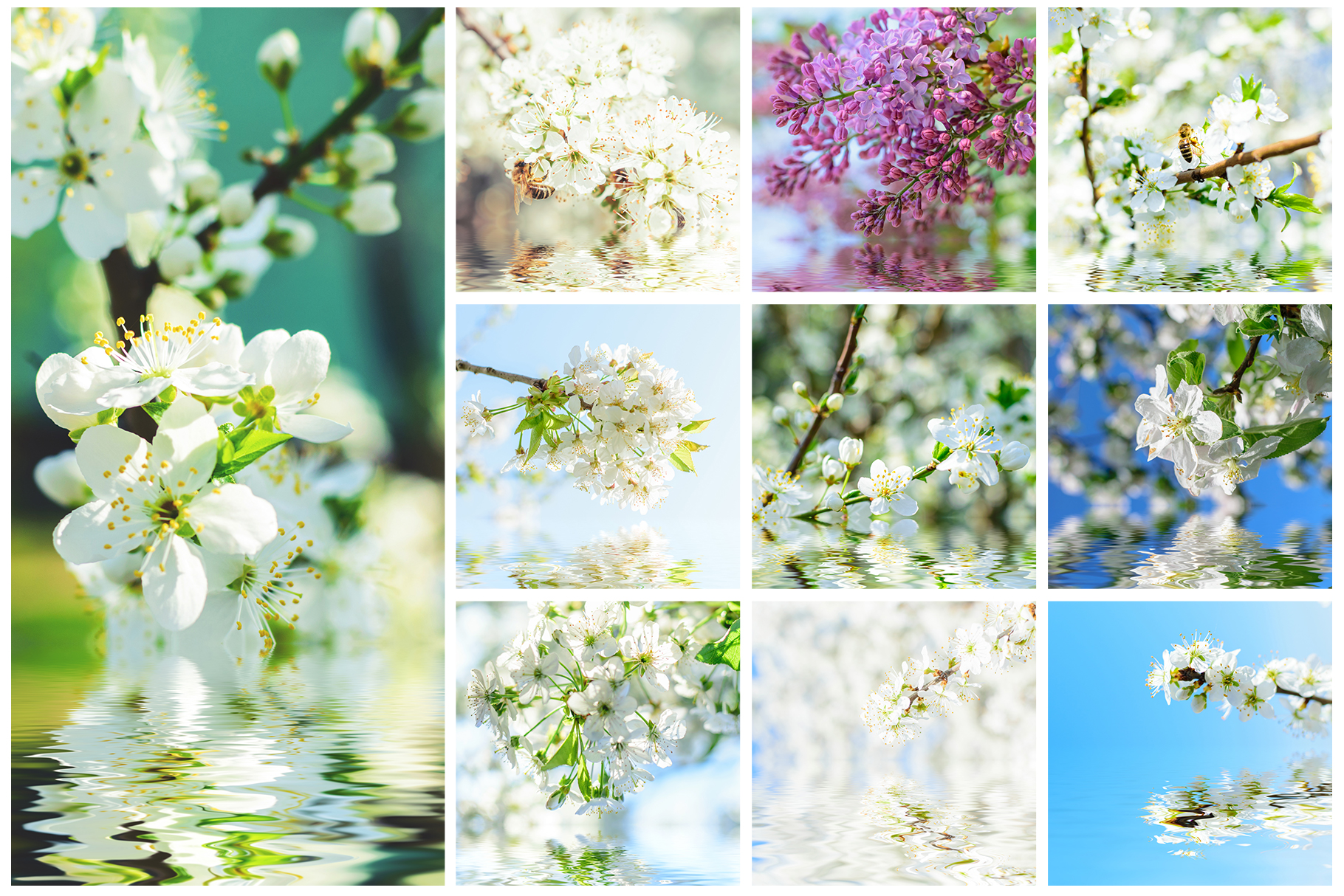 Spring Flowers and Paintings Bundle example image 12