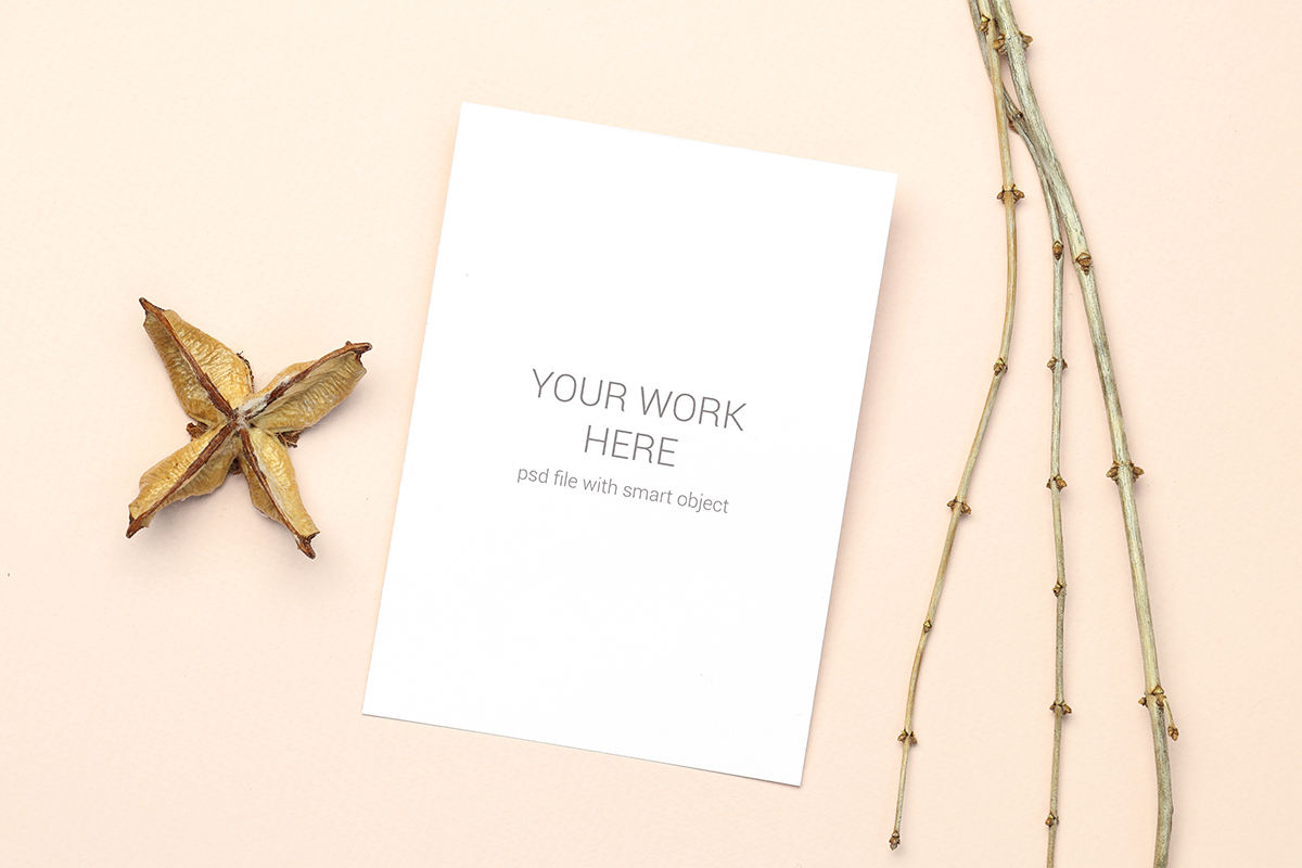 Invitation Card Mockups With Branches example image 8