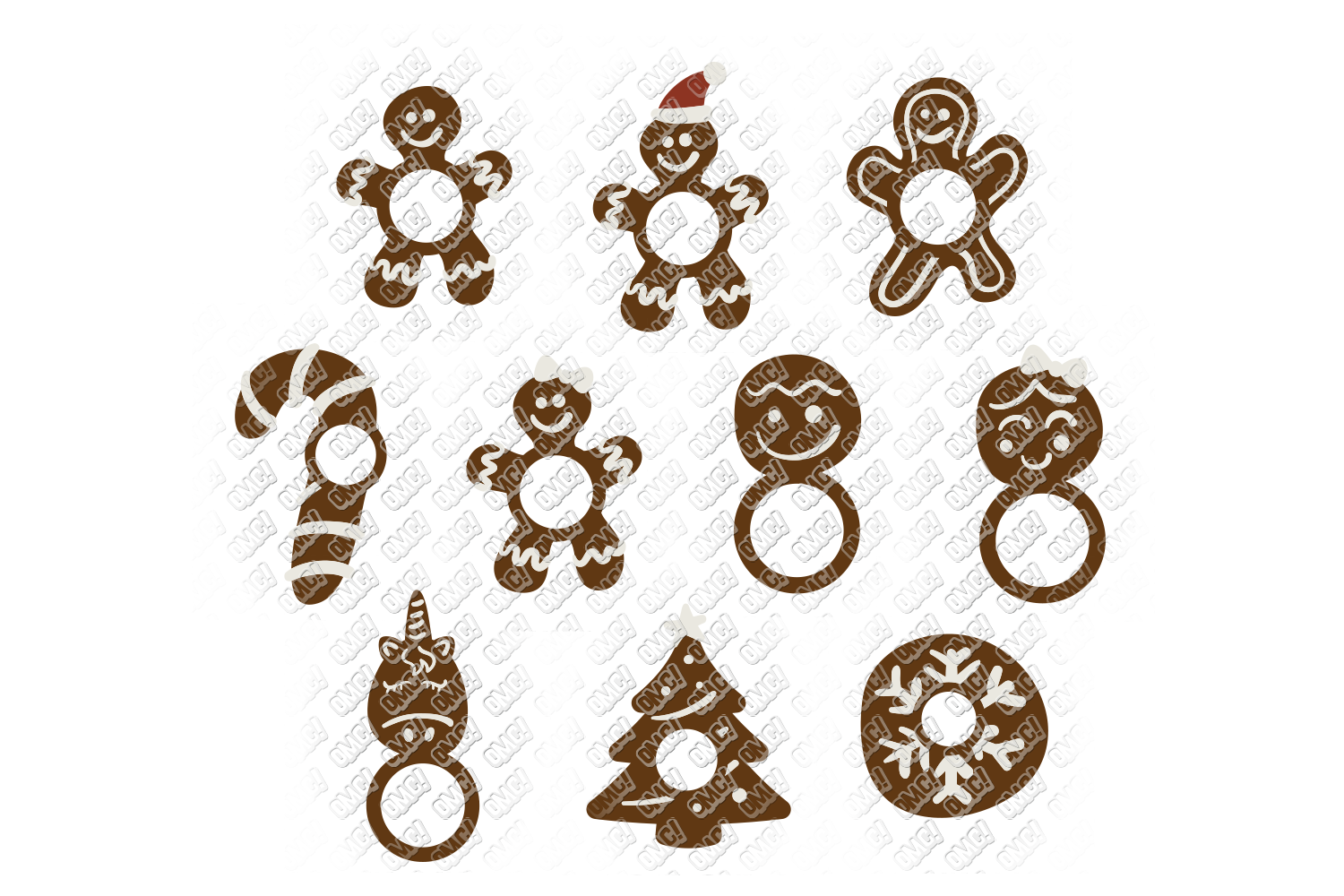 Christmas Cookies SVG Bundle in SVG, DXF, PNG, EPS, JPEG example image 4
