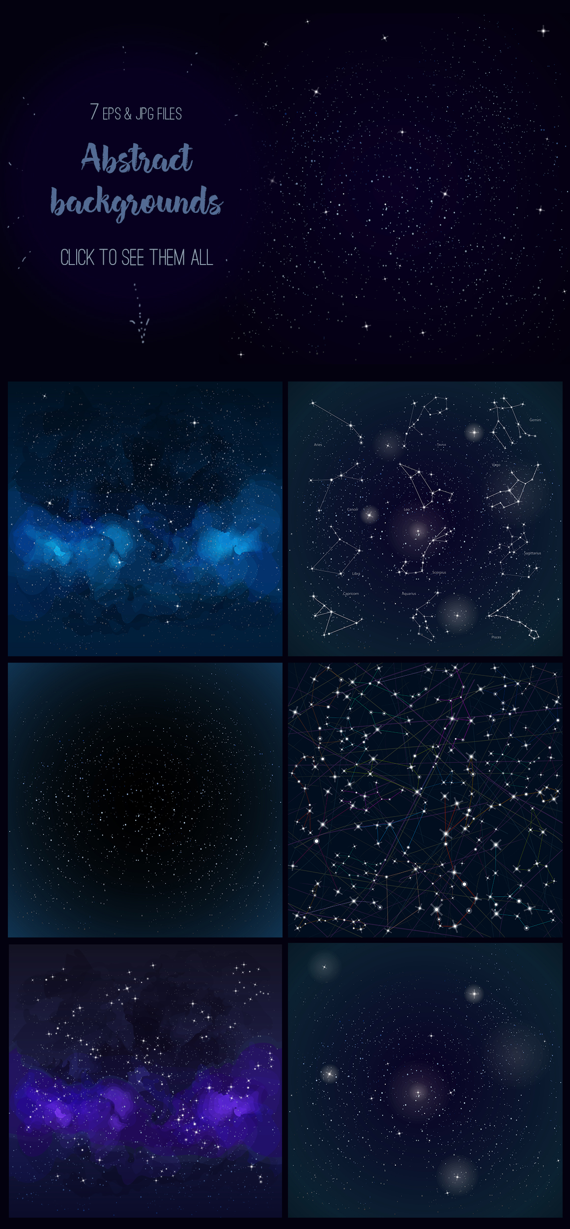 Cosmos vector set example image 2