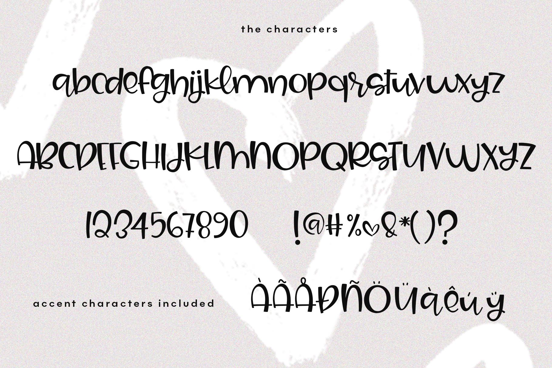 Joy & Hugs Handwritten Script Font - with doodle extras! example image 16