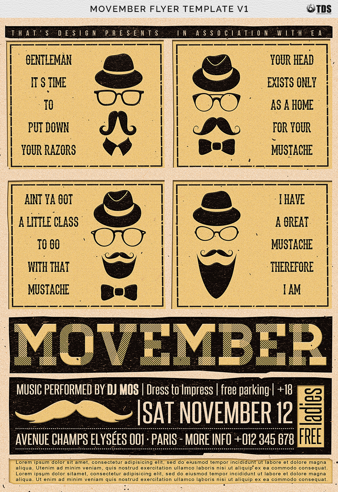 Movember Flyer Template V1 example image 4