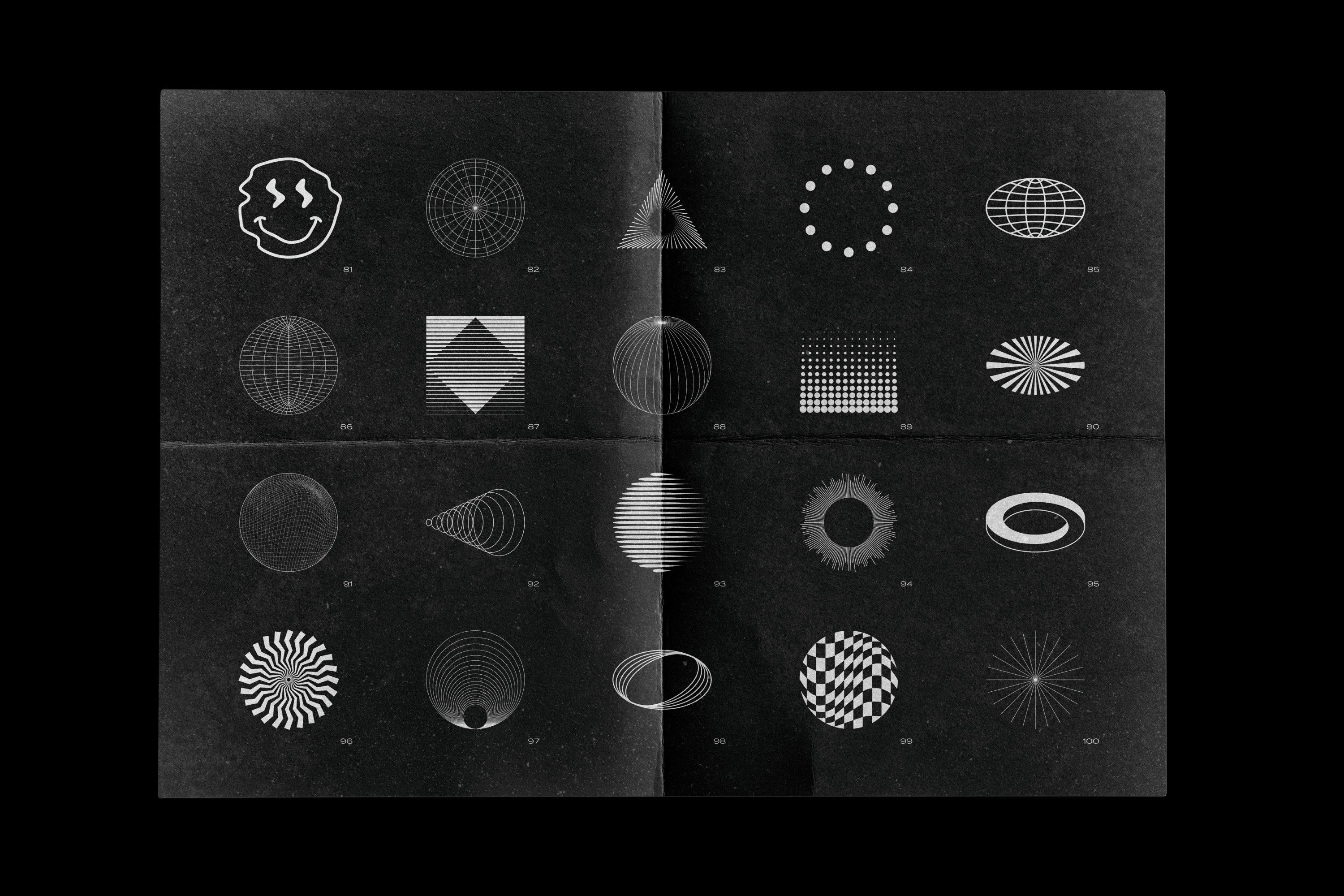 Abstract Shapes collection - 100 design elements example image 15
