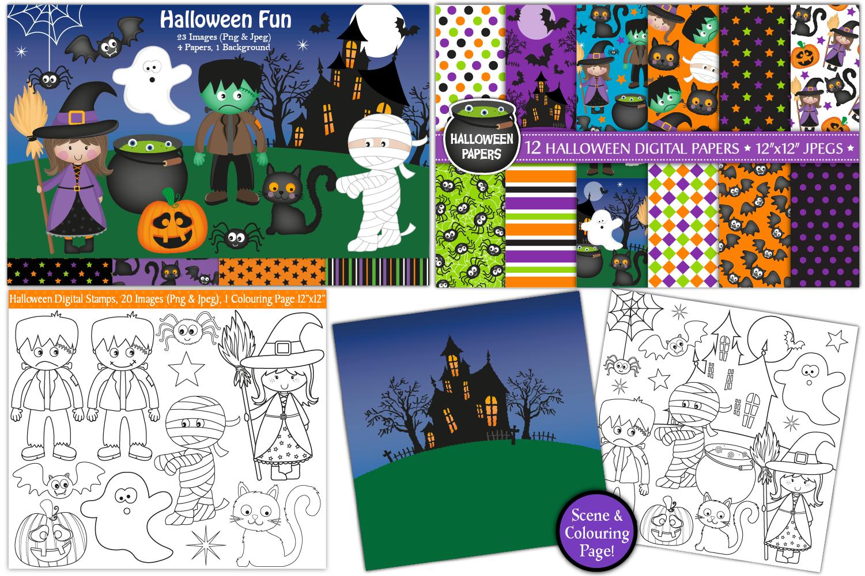 Halloween bundle, Halloween graphics & Illustrations example image 2