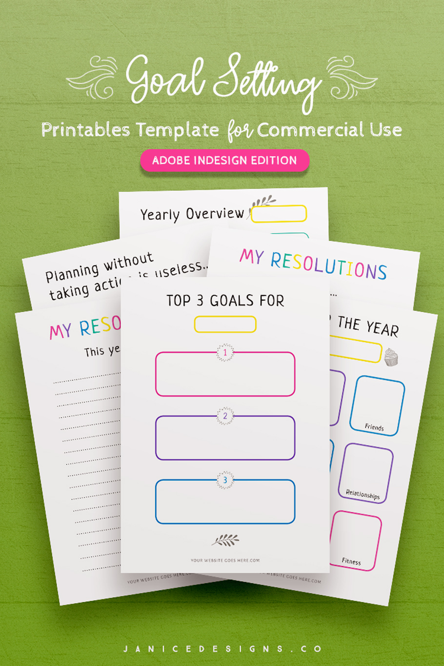 7-in-1 Bundle InDesign Templates for Commercial Use example image 5