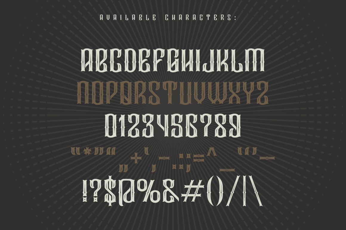 Droptune typeface example image 2