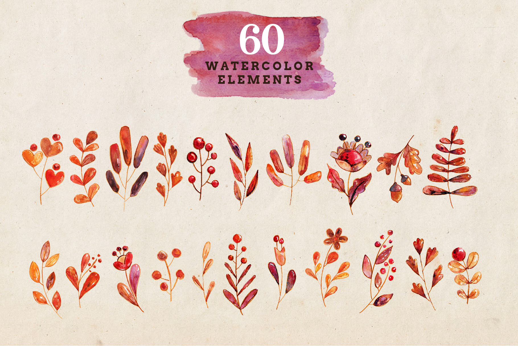 Autumn Delights Watercolor Pack example image 2