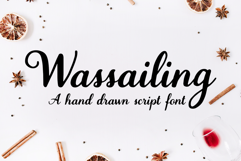 Wassailing - A handwritten script font example image 1