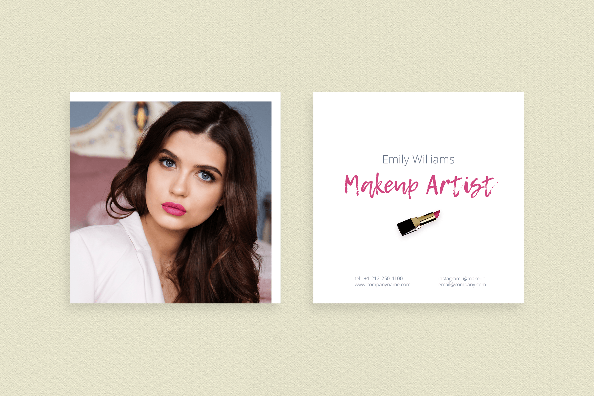 Makeup Artist Business Card Template example image 3