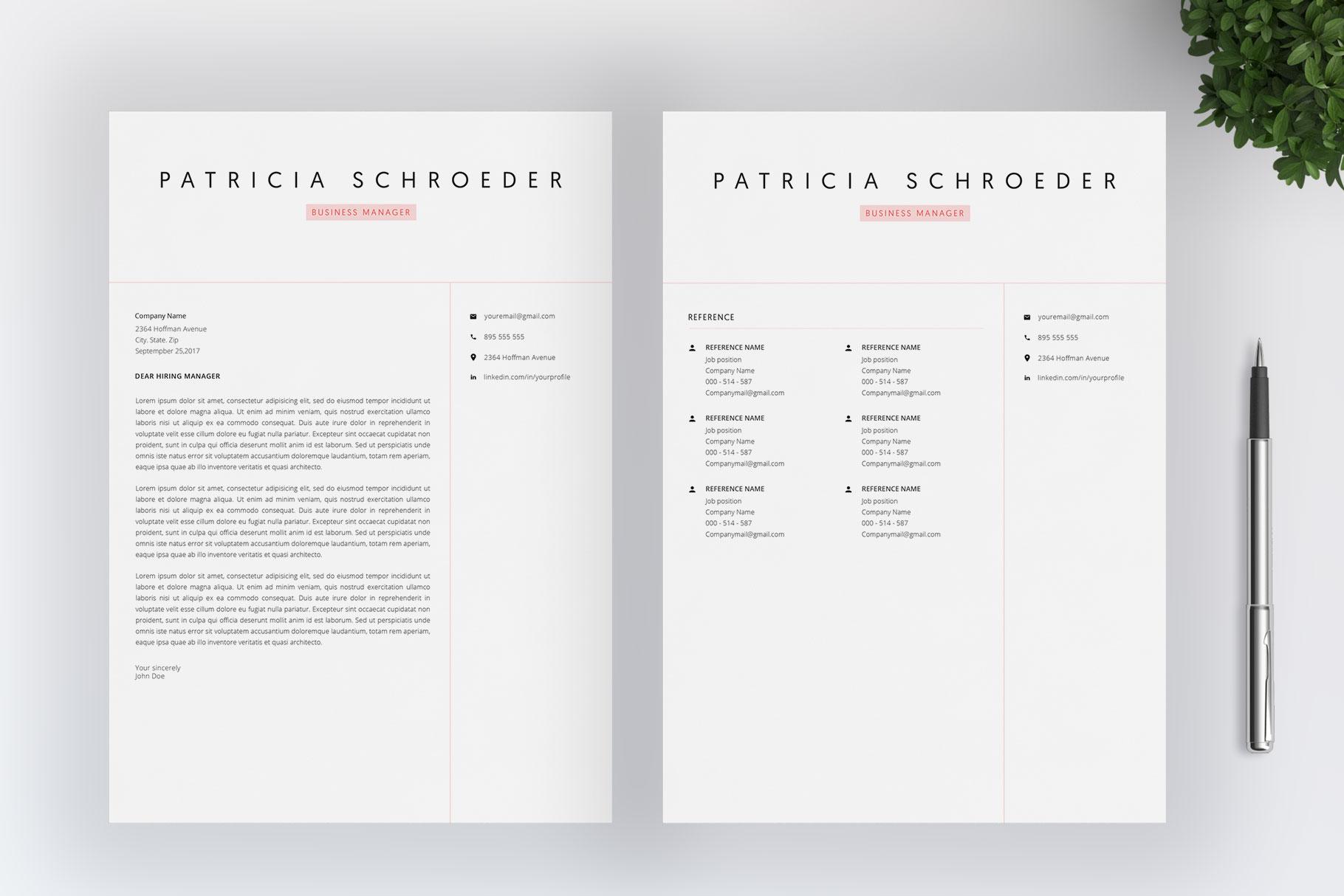 Elegant Resume | Word Resume | Cover Letter