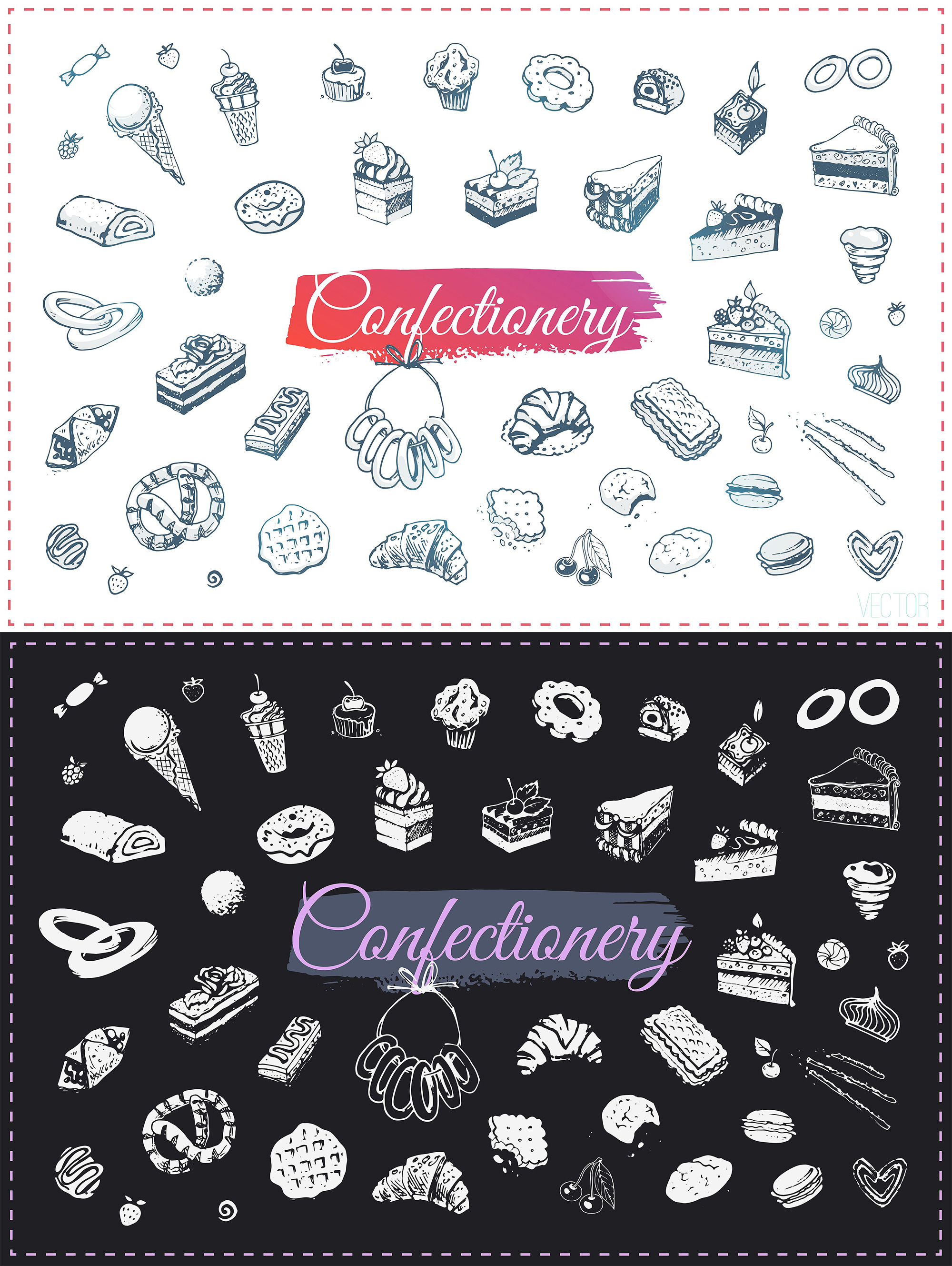 Hand drawn cooking and food icons example image 17