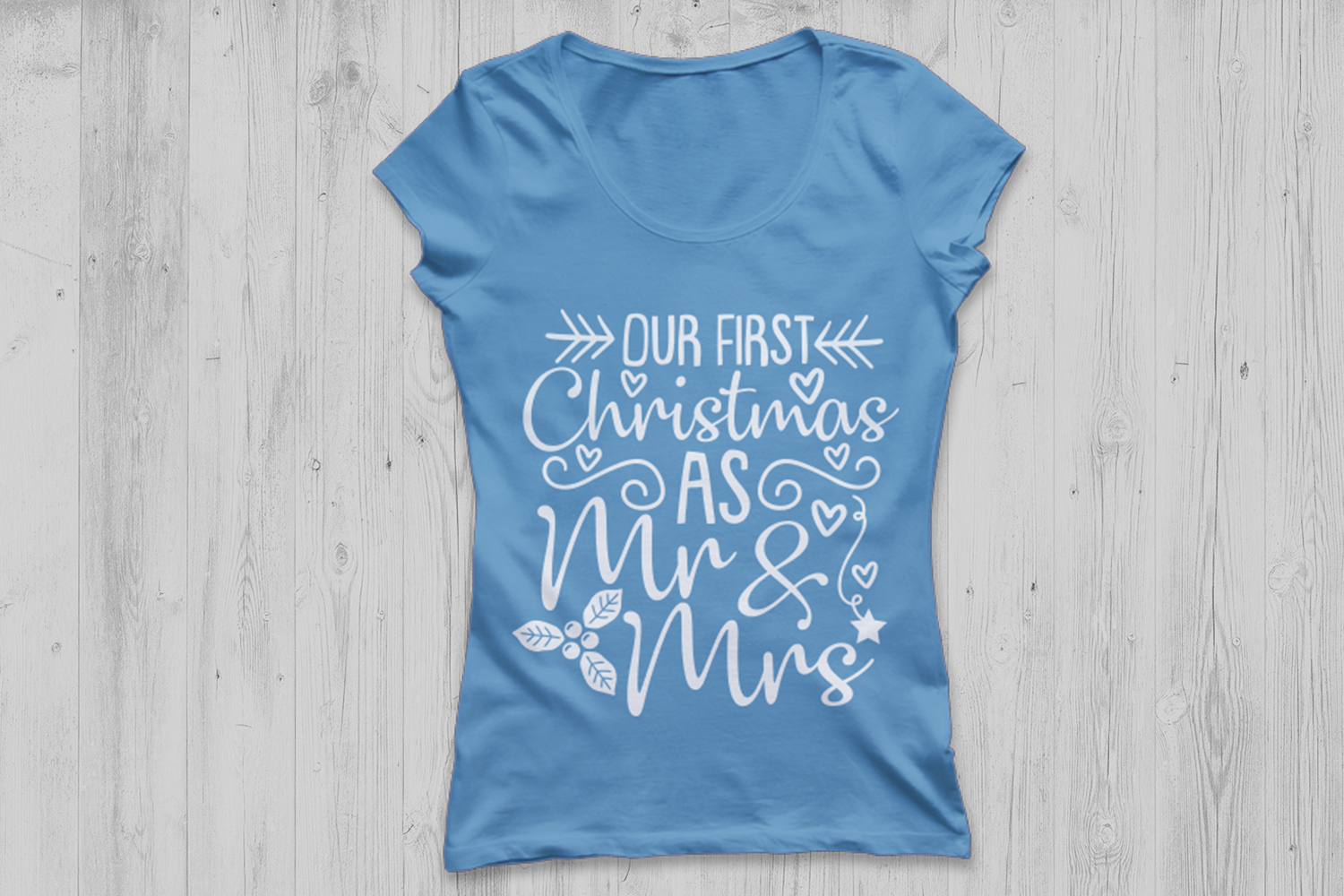 Our First Christmas As Mr And Mrs Svg, Christmas Svg. example image 2