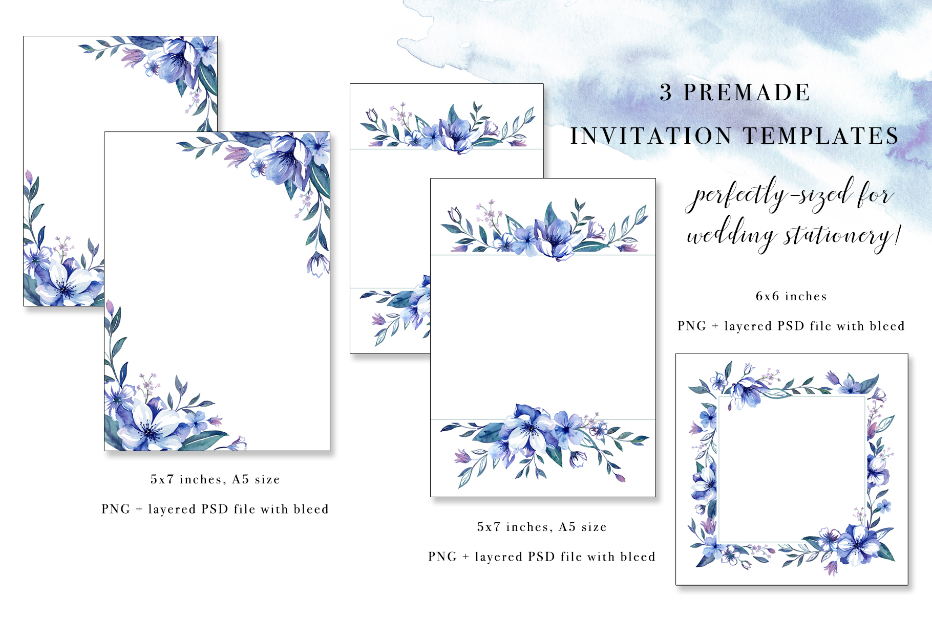Floral Watercolor Bundle example image 16