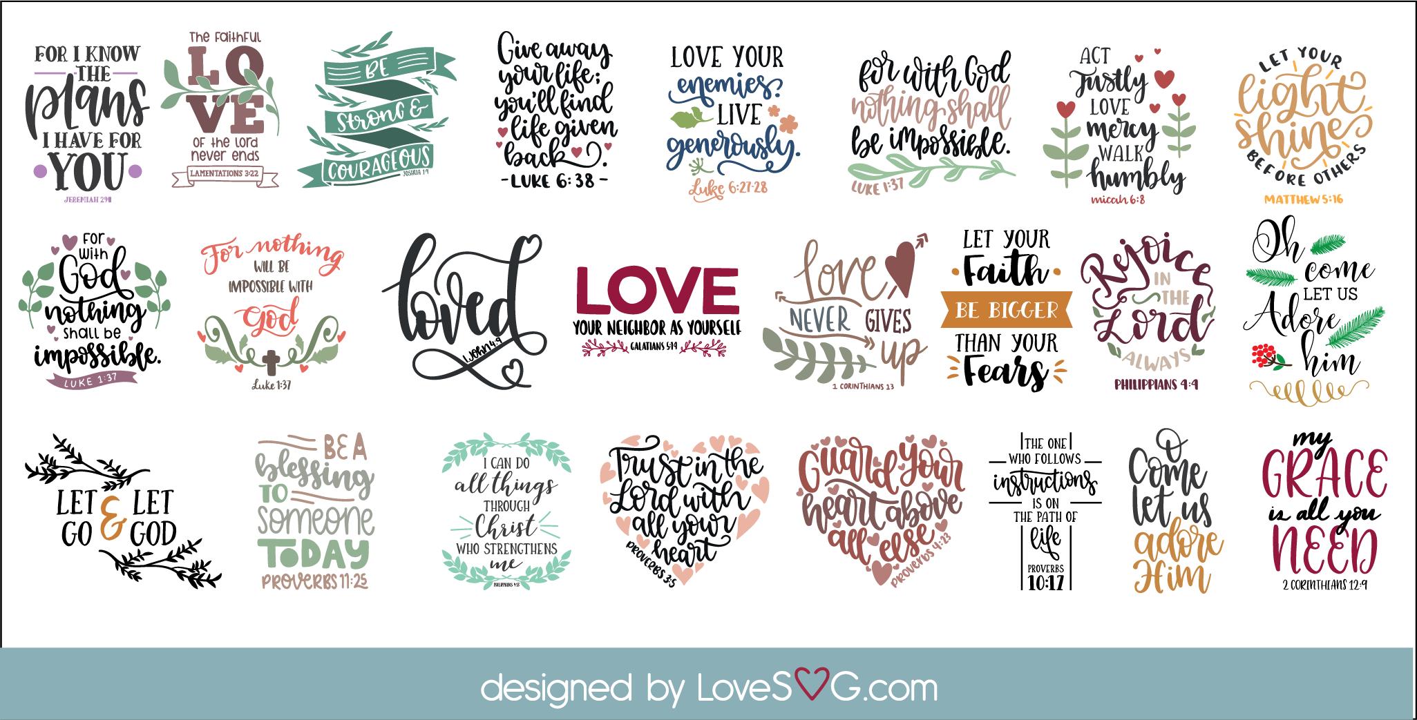 The Scripture SVG Bundle | Bible Verses SVGs example image 5