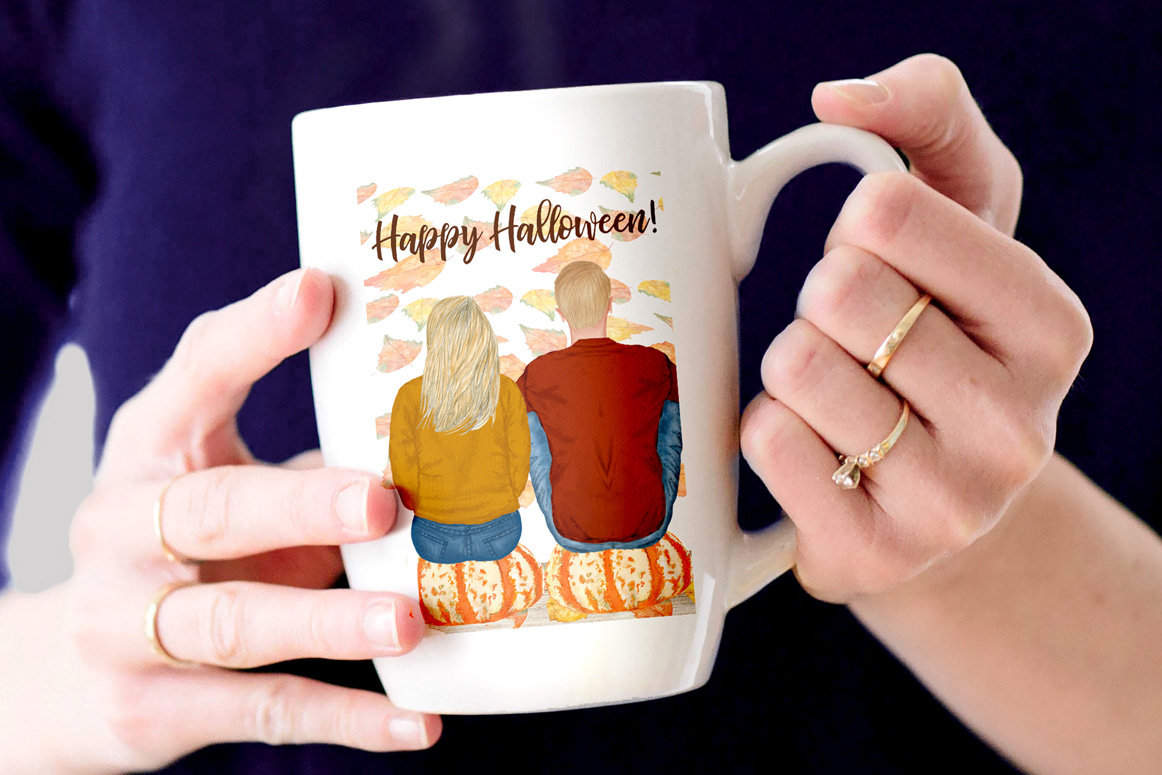 Autumn clipart, Family Clipart, Family Illustrations example image 2