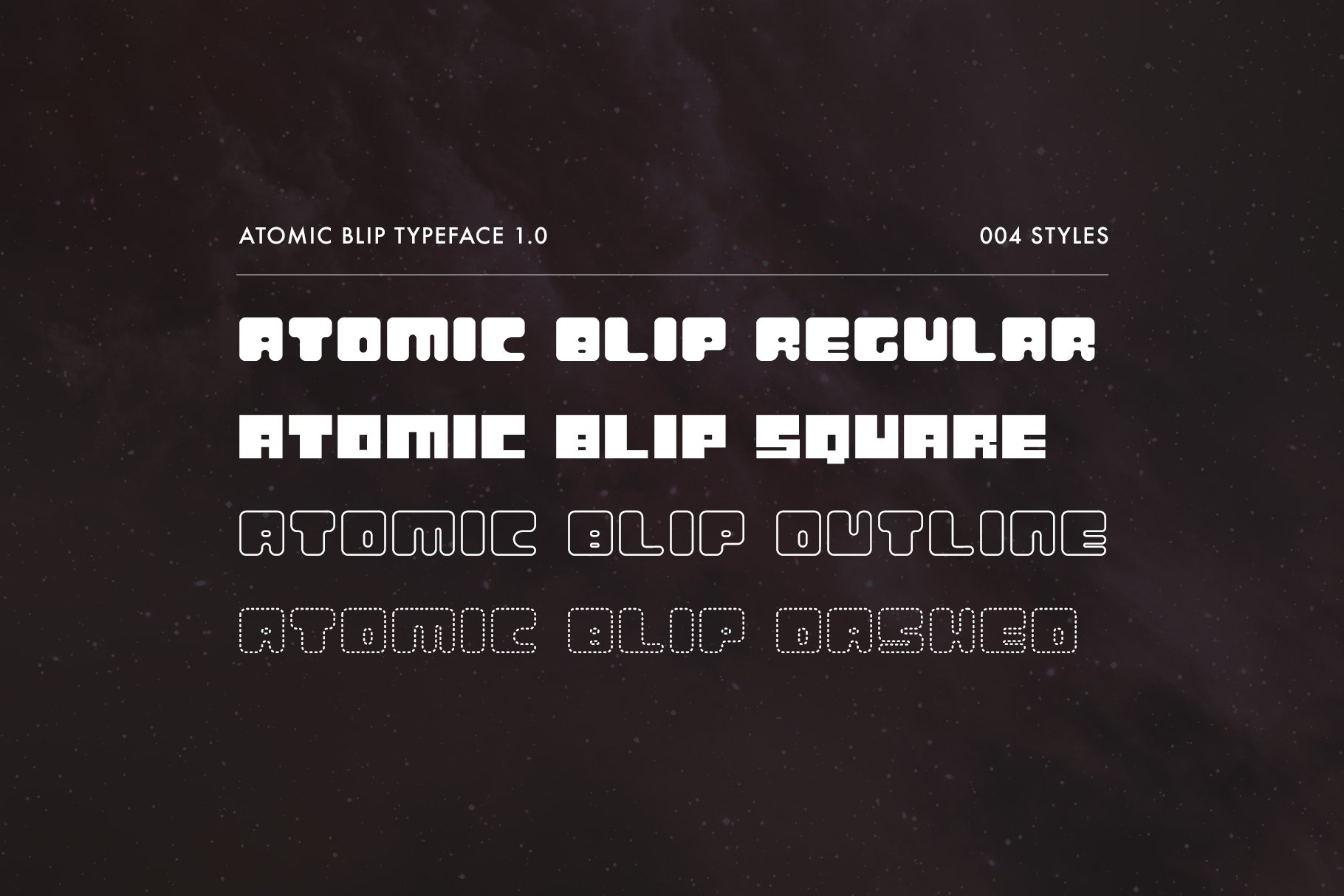 Atomic Blip   Font of the Future! example image 2