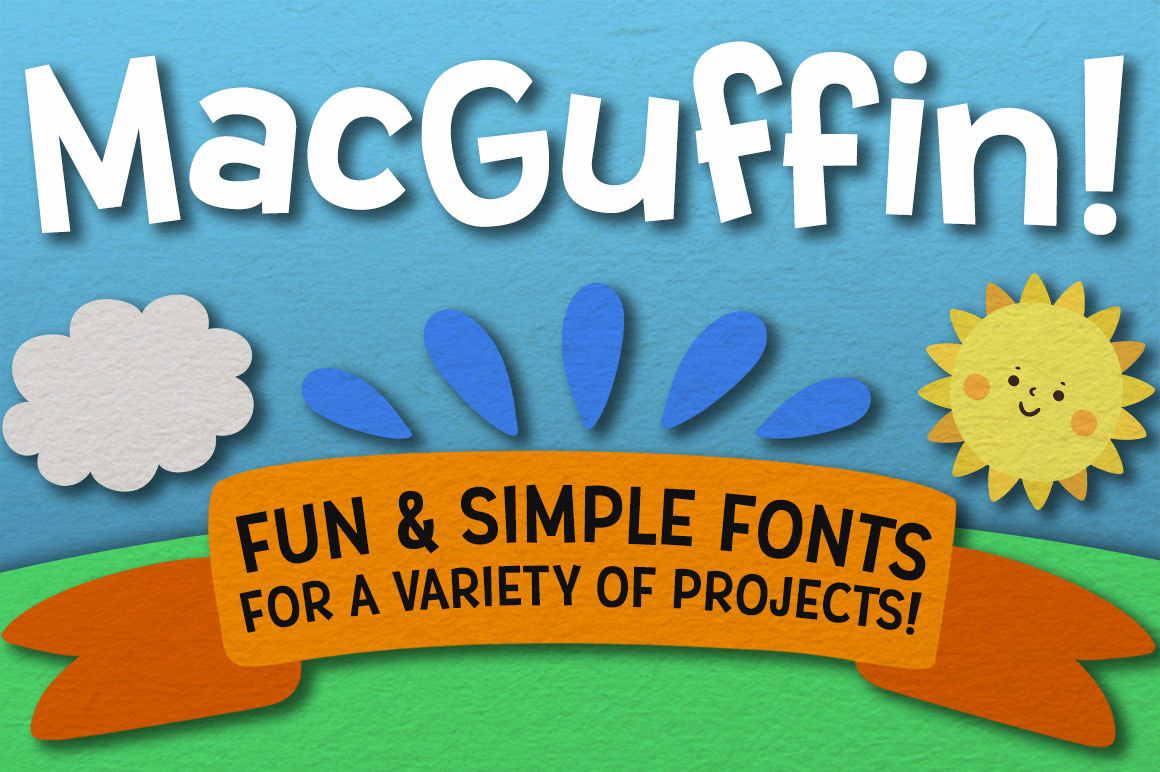 MacGuffin fun font set example image 1