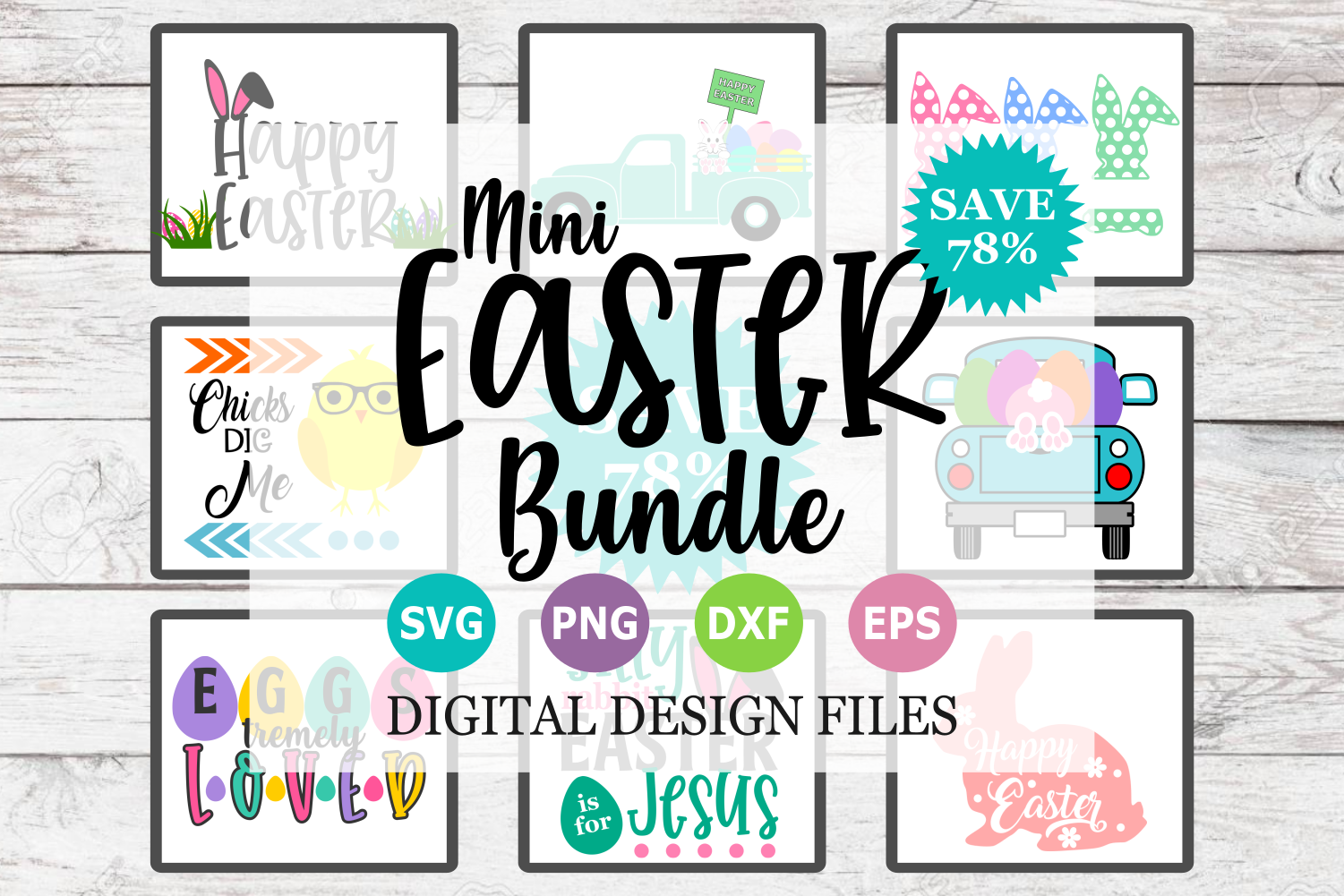 Mini Easter Bundle - A Easter SVG Cut File Collection example image 1