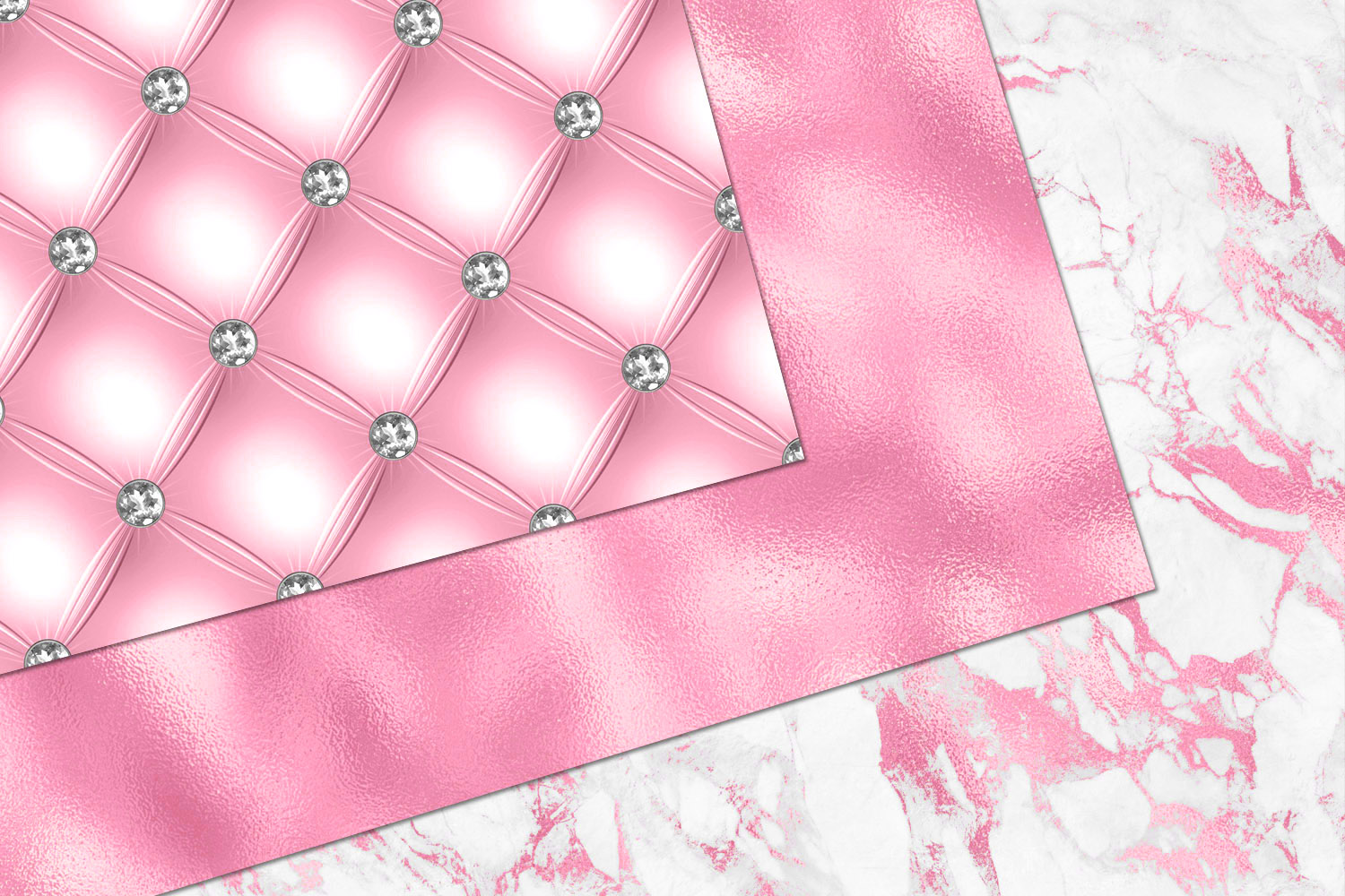 Glitzy Pink Digital Paper example image 2
