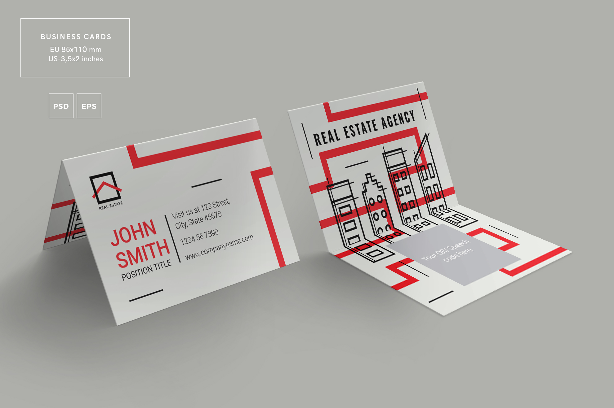 Real estate agency business card design templates kit real estate agency business card design templates kit example image 3 accmission Image collections
