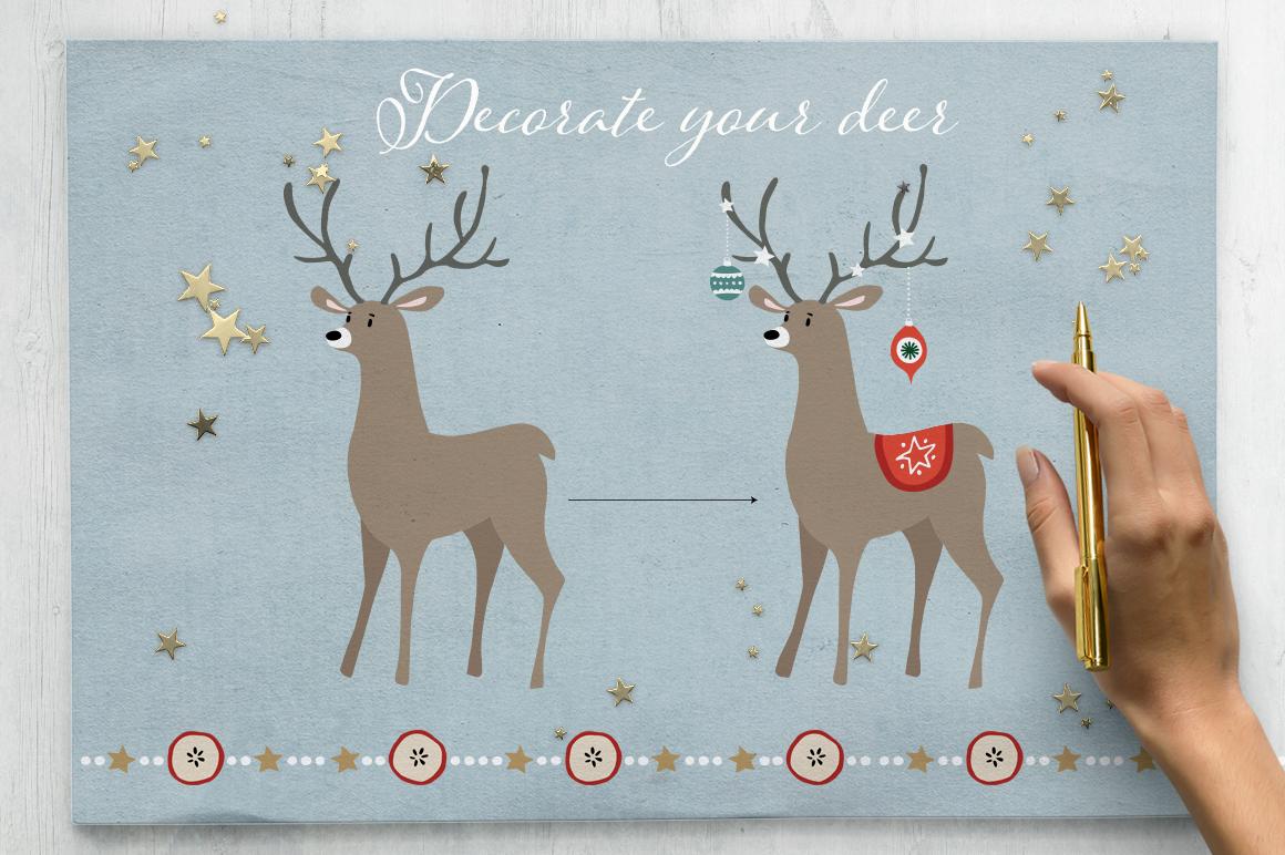 Merry Christmas set, 166 elements example image 12