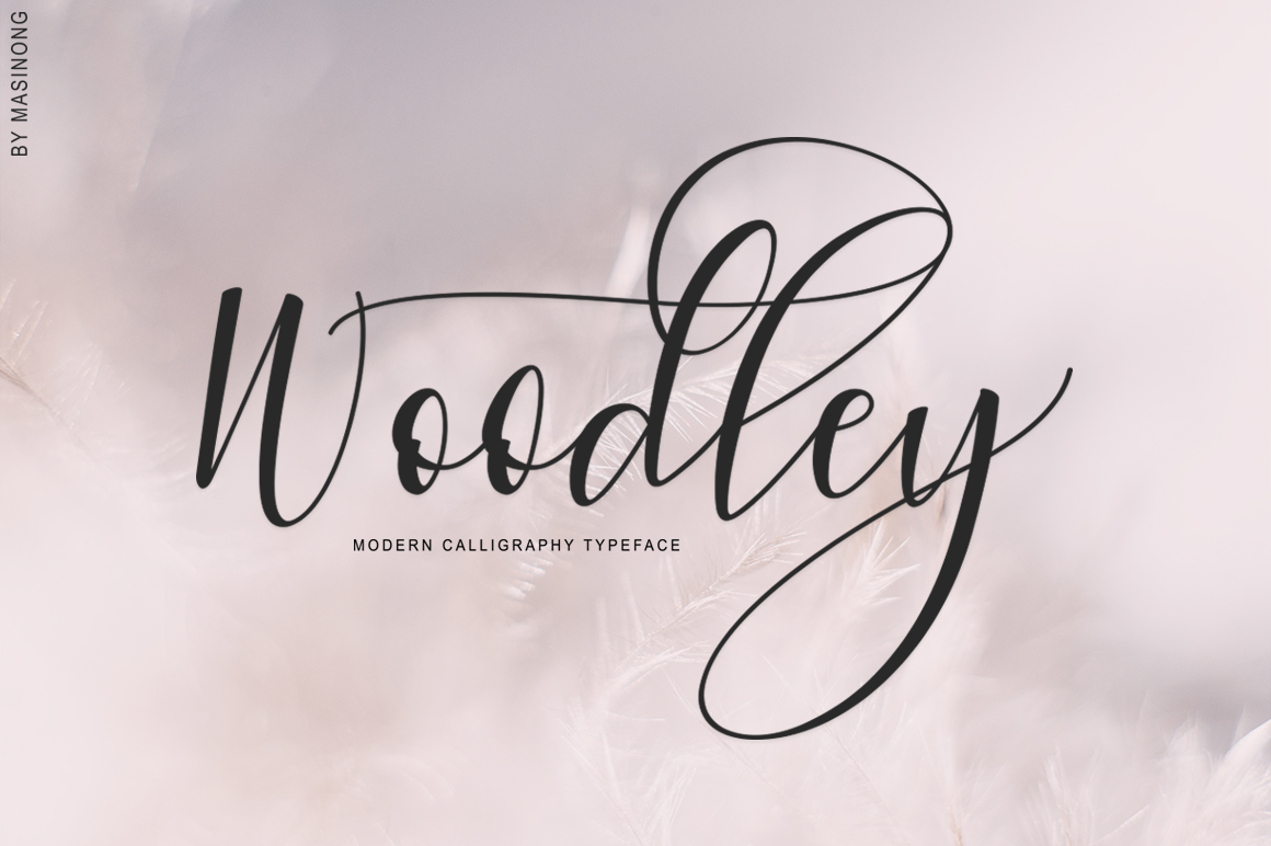 Woodley Script example image 1