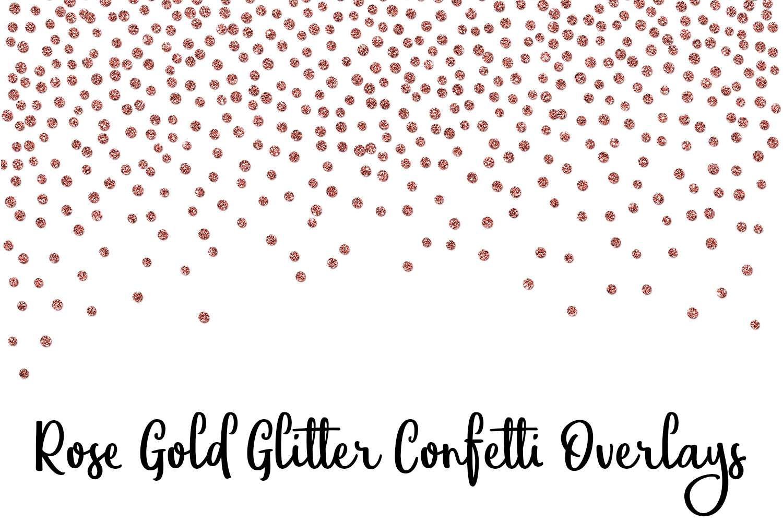 Rose Gold Glitter Confetti Overlays example image 3