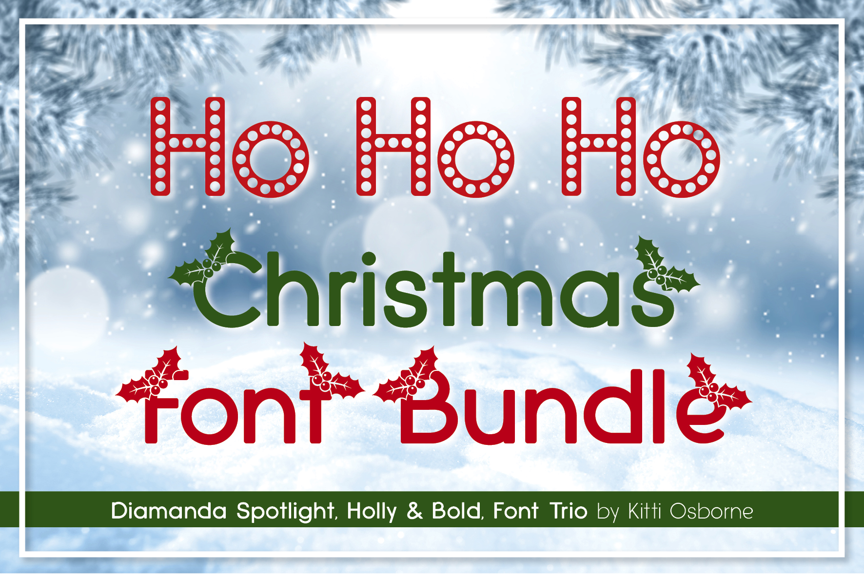 Spotlight, Holly and Bold, Diamanda Christmas Trio Bundle example image 1