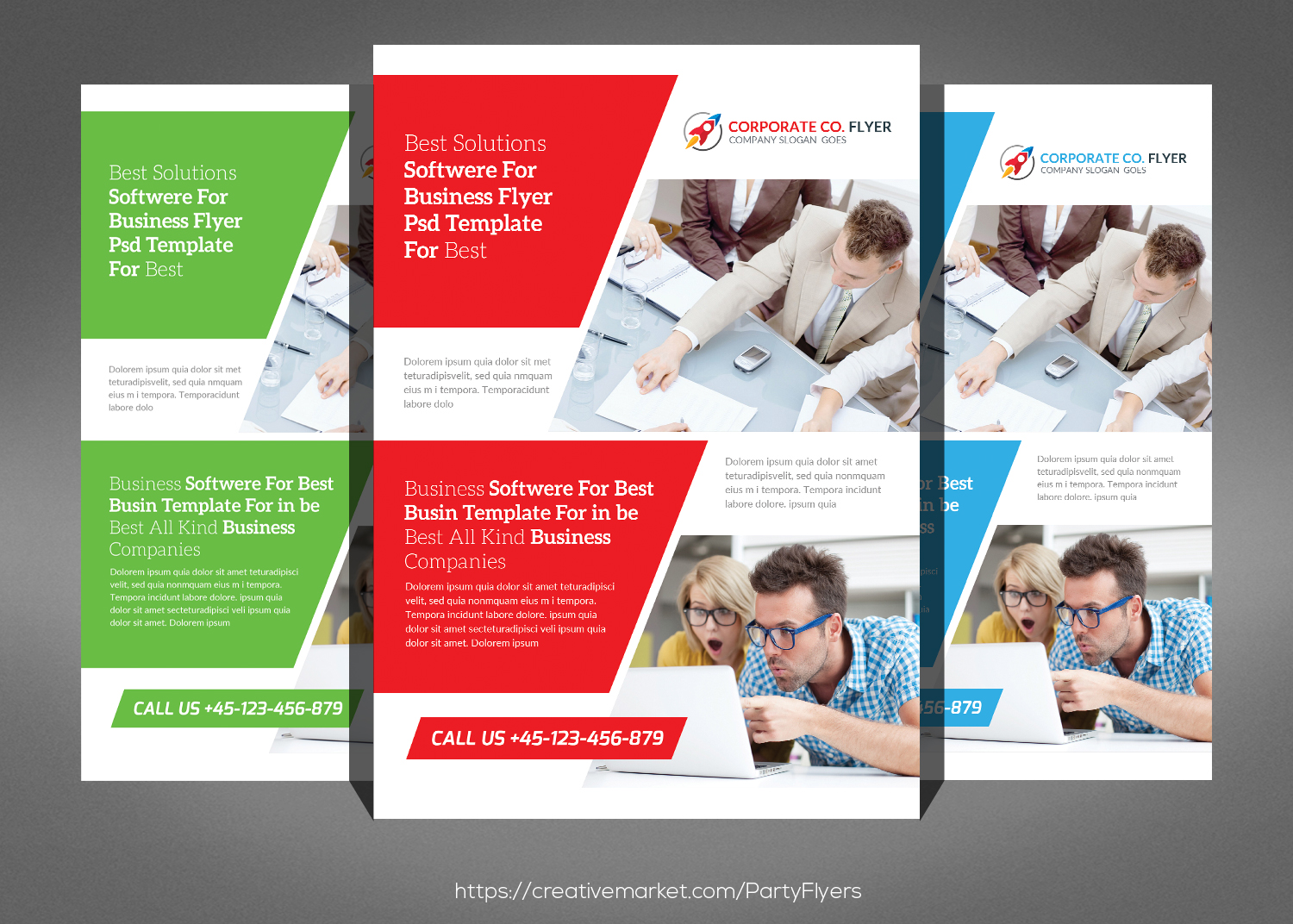 Clean Corporate Business Flyer Bundle example image 4