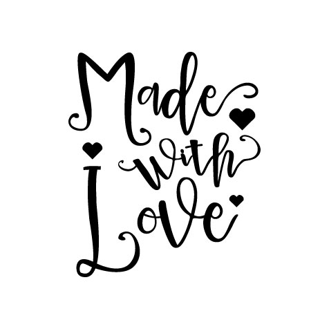 Made with Love  Svg Dxf Png Jpg Eps vector file Cut Files example image 1