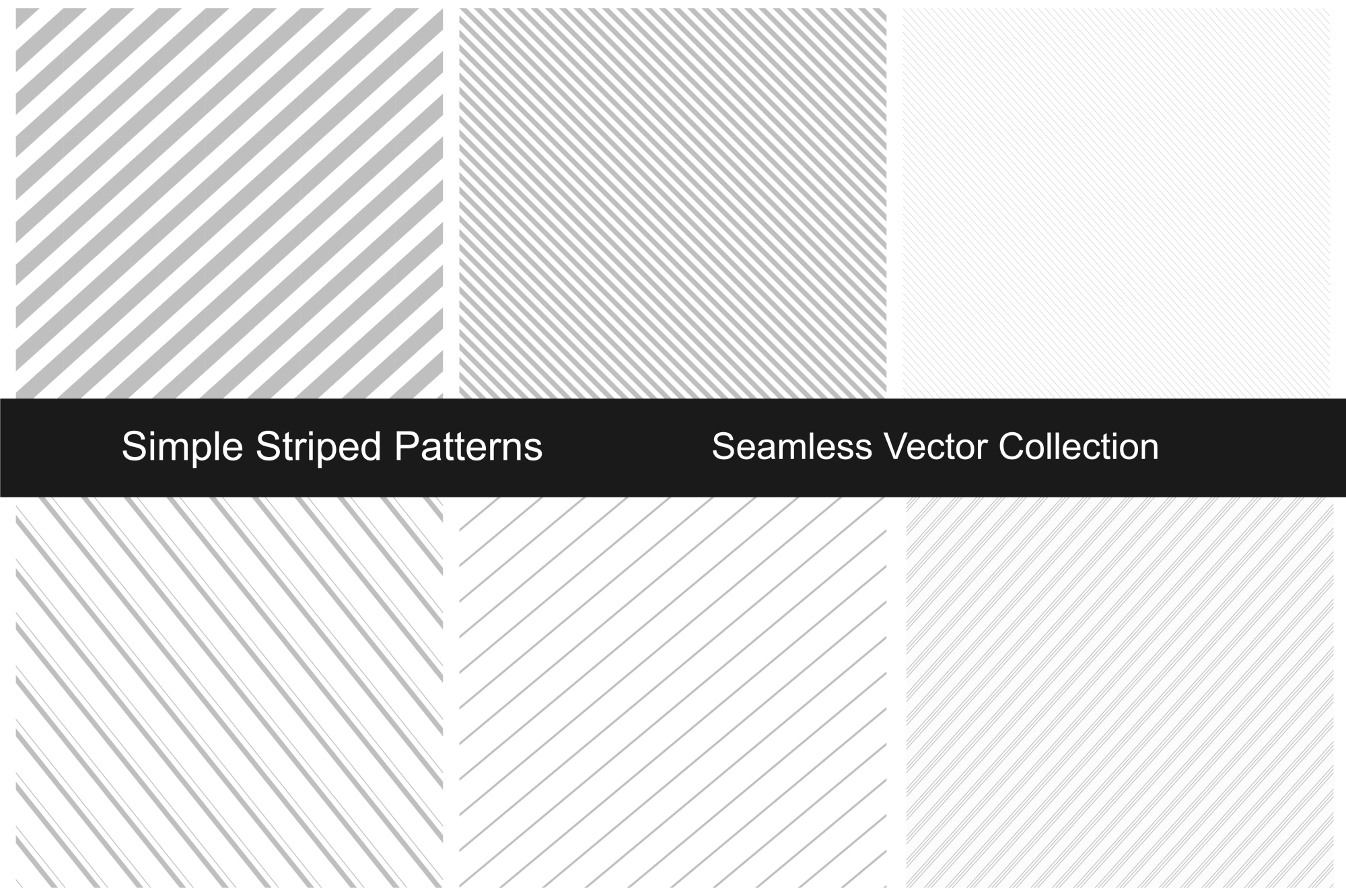 Striped patterns - seamless. example image 1