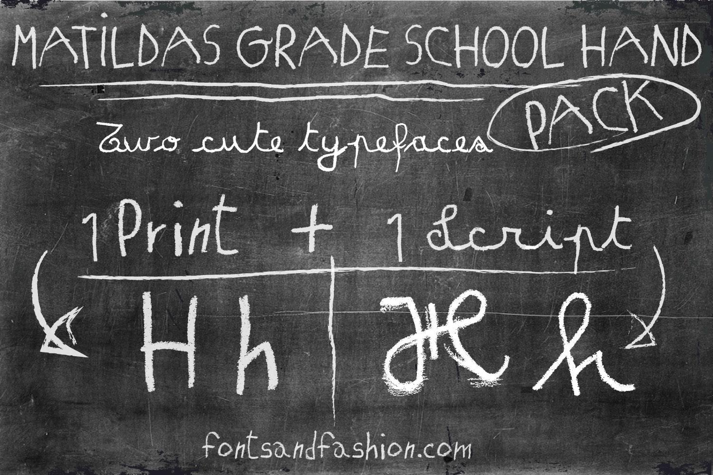 Matildas Grade School Hand_Script example image 5