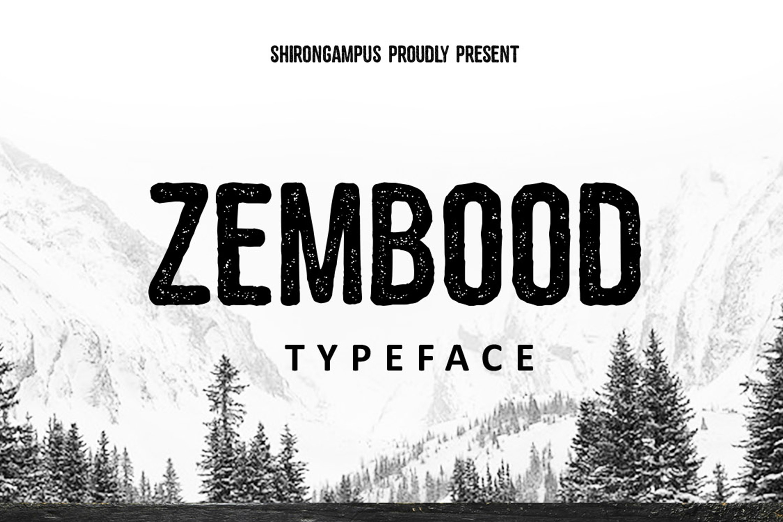 Zembood Typeface example image 1