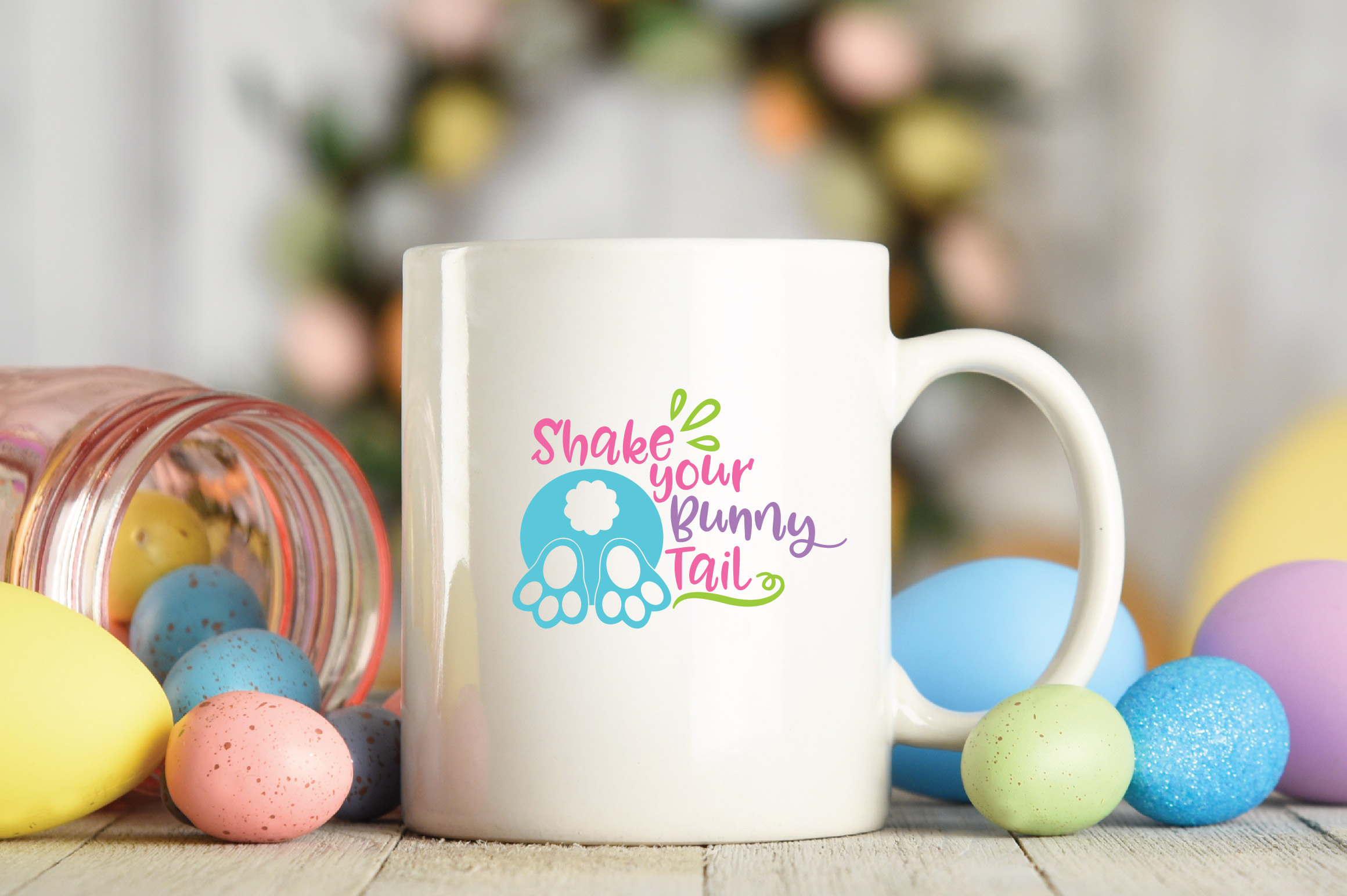 Easter SVG Cut File - Shake your Bunny Tail SVG DXF EPS PNG example image 4