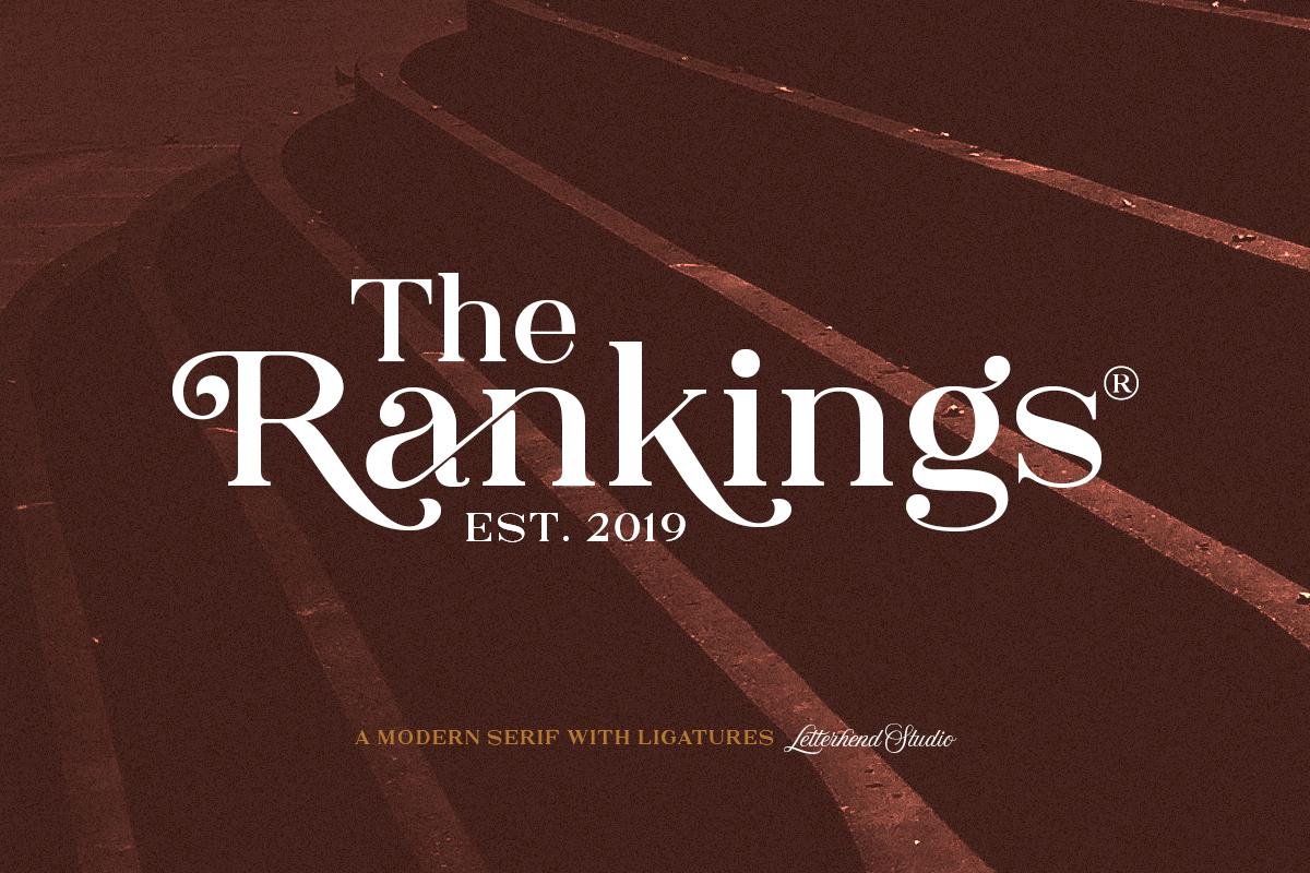 The Rankings Serif example image 1