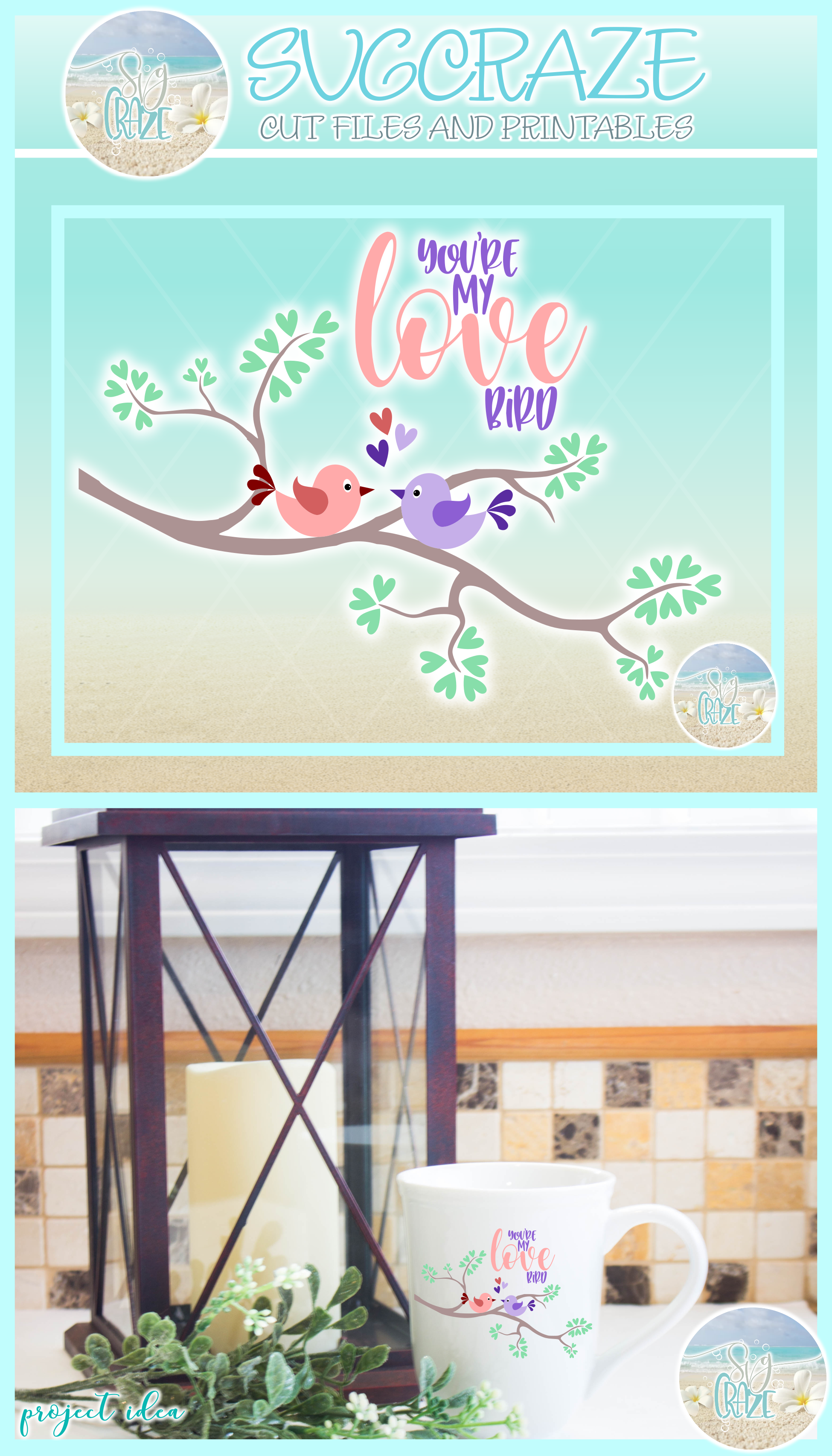 Youre My Love Bird Valentines Day Quote Svg Dxf Eps Png Pdf example image 4